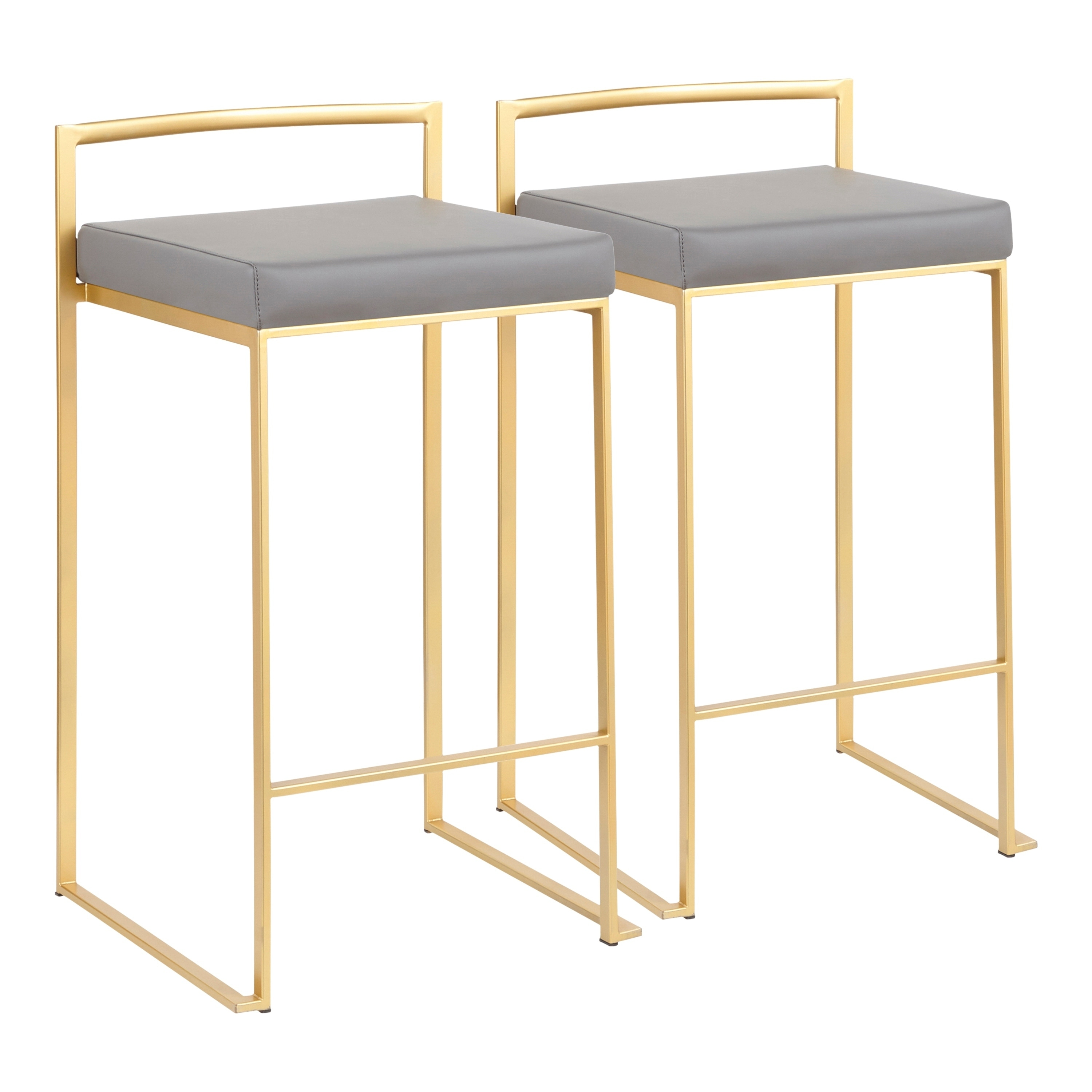 Shop silver orchid forrest gold stackable counter stool set of 2 n a on sale free shipping today overstock com 20133394