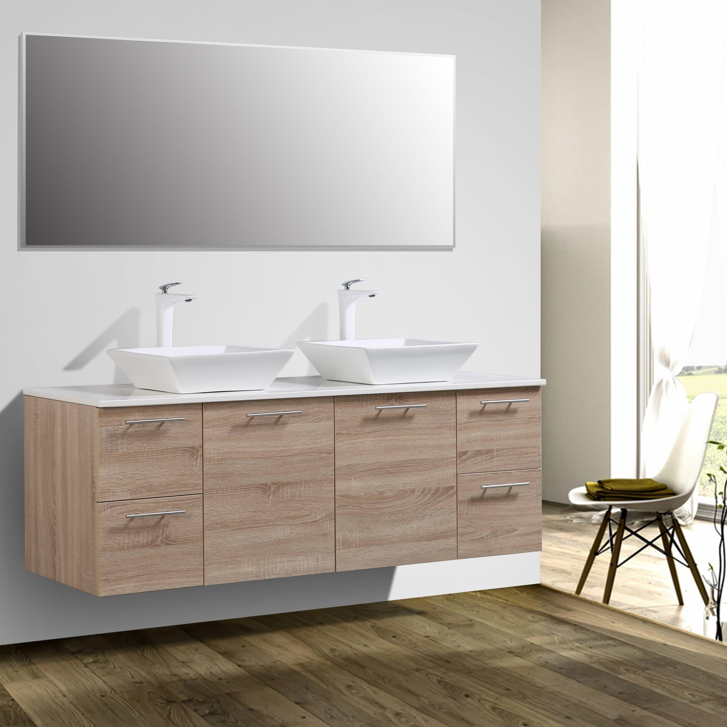 Eviva Luxury 60 Inch White Oak Bathroom Vanity Free Shipping Today 20174466