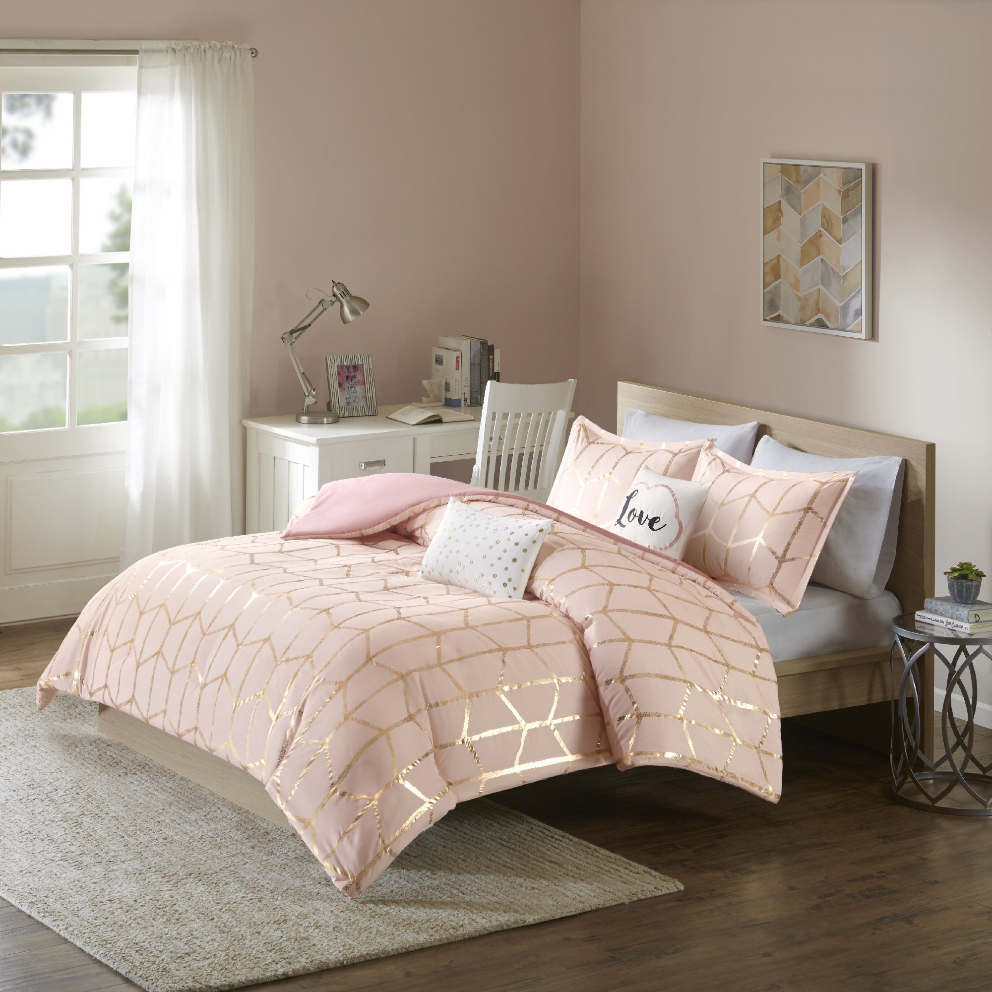 intelligent mini plush twin set picture cover of p laila comforter chevron ultra blush duvet design s