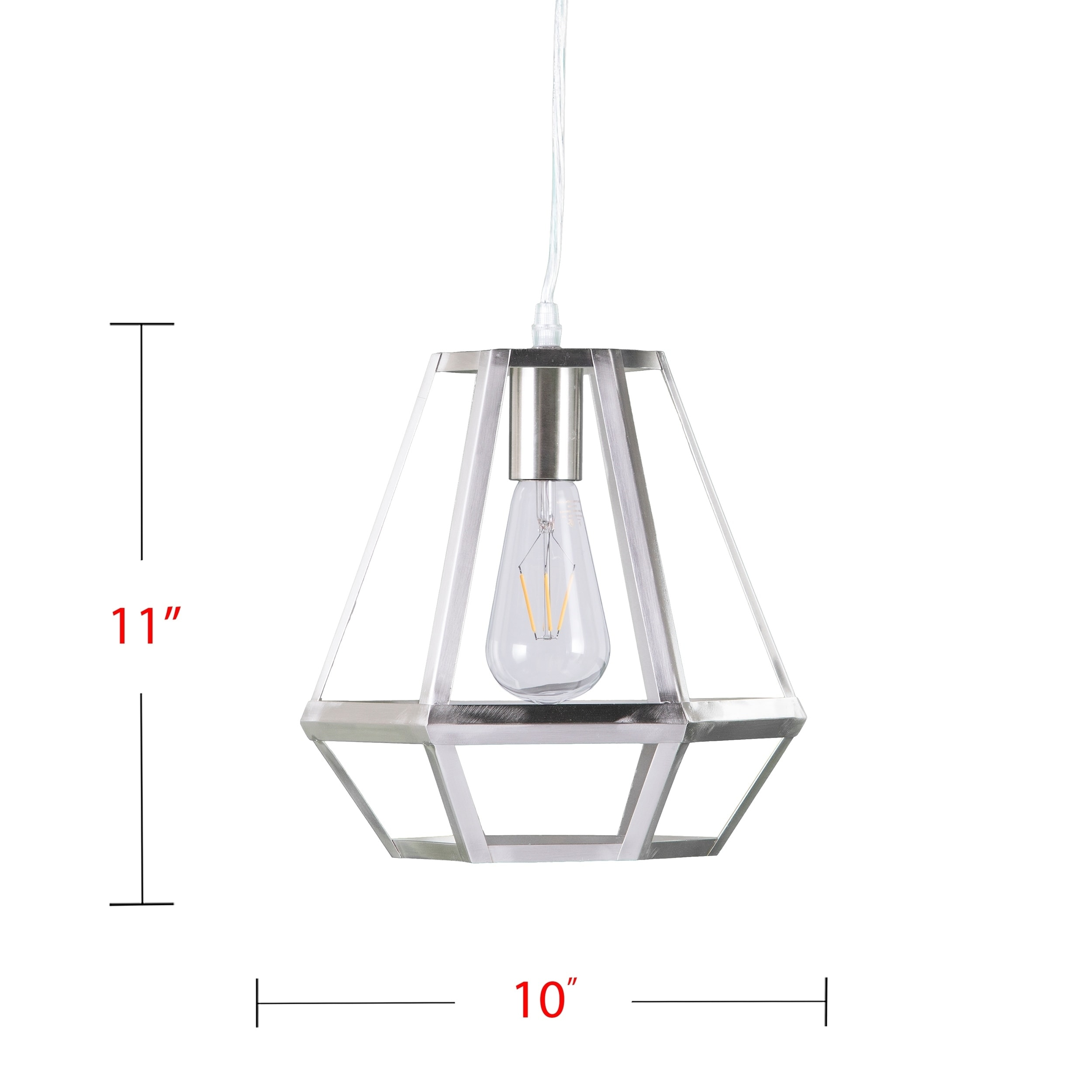 Harper Blvd Axones White Caged Lantern Pendant Lamp  Free