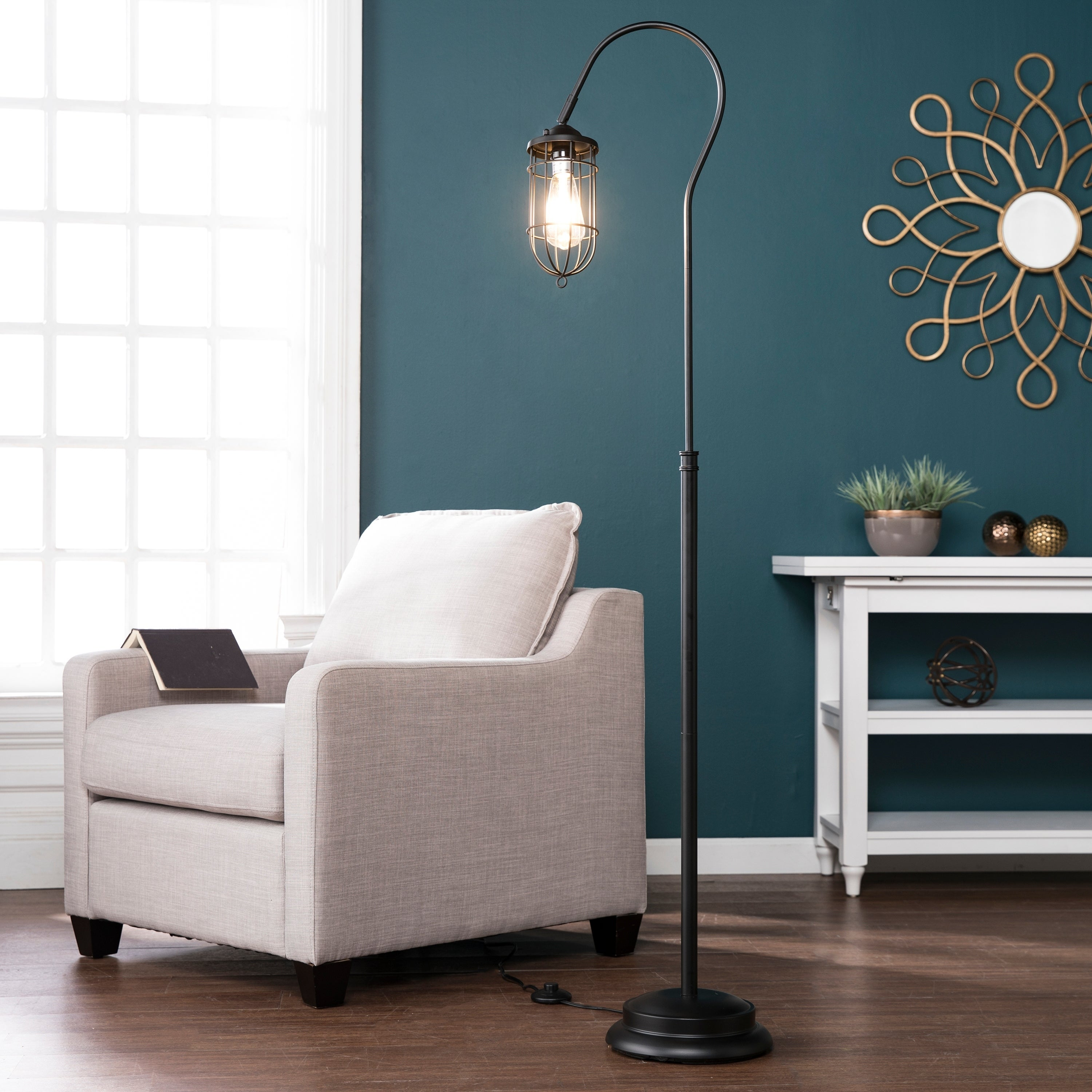 shop harper blvd tilbury floor lamp on sale free shipping today