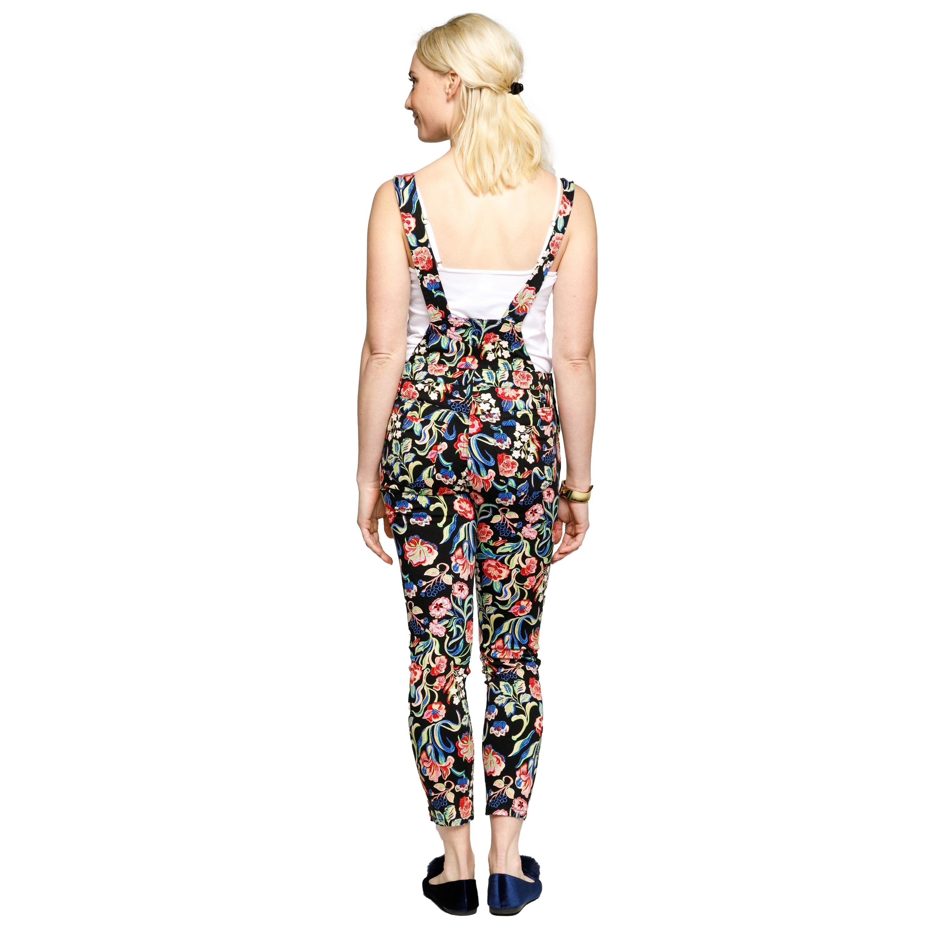 59cee9e1a27 Shop Xehar Womens Casual Floral Print Overalls Jumpsuits Playsuits - Free  Shipping Today - Overstock - 20168658