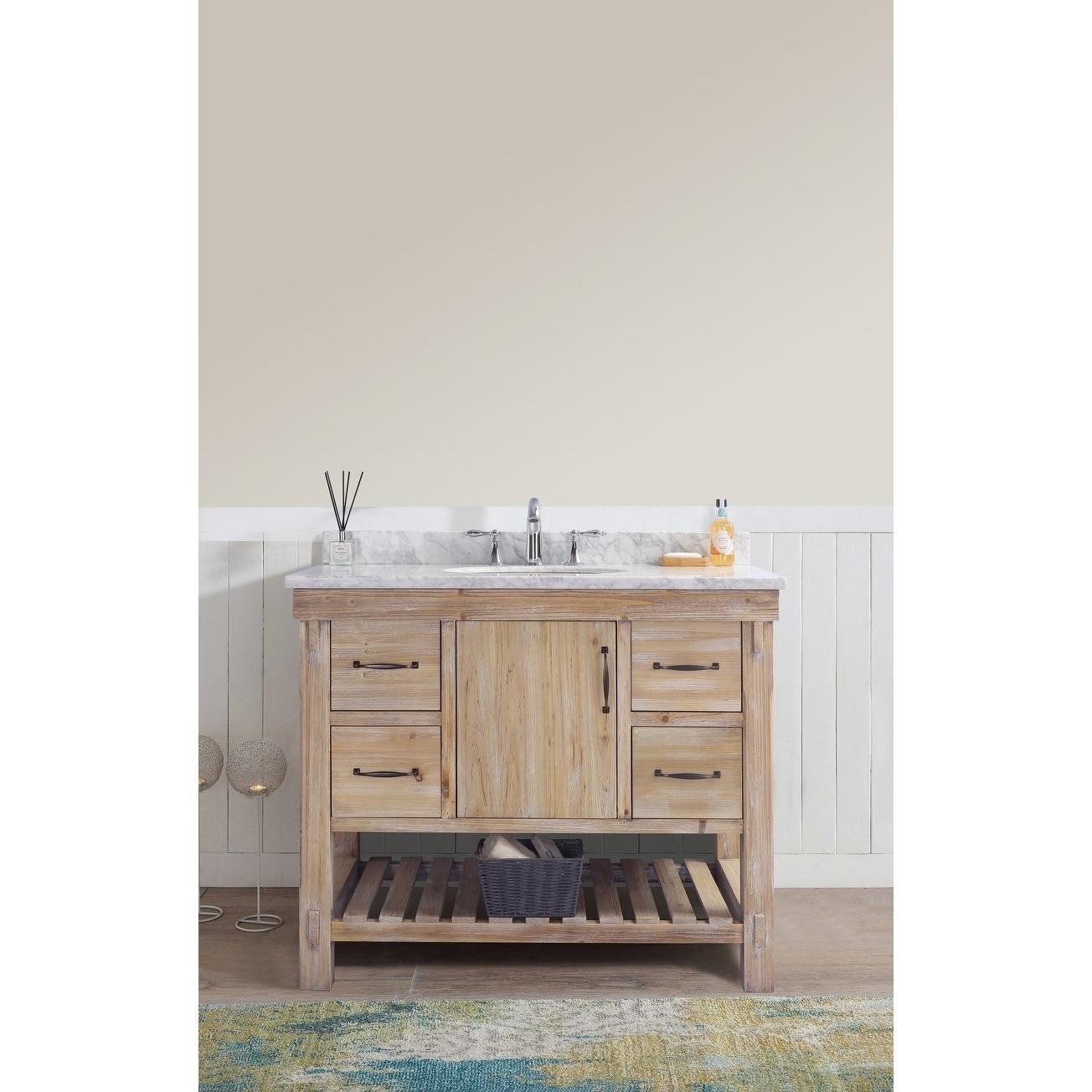 Marina 42 Bathroom Vanity Driftwood Finish Free Shipping Today 20168974