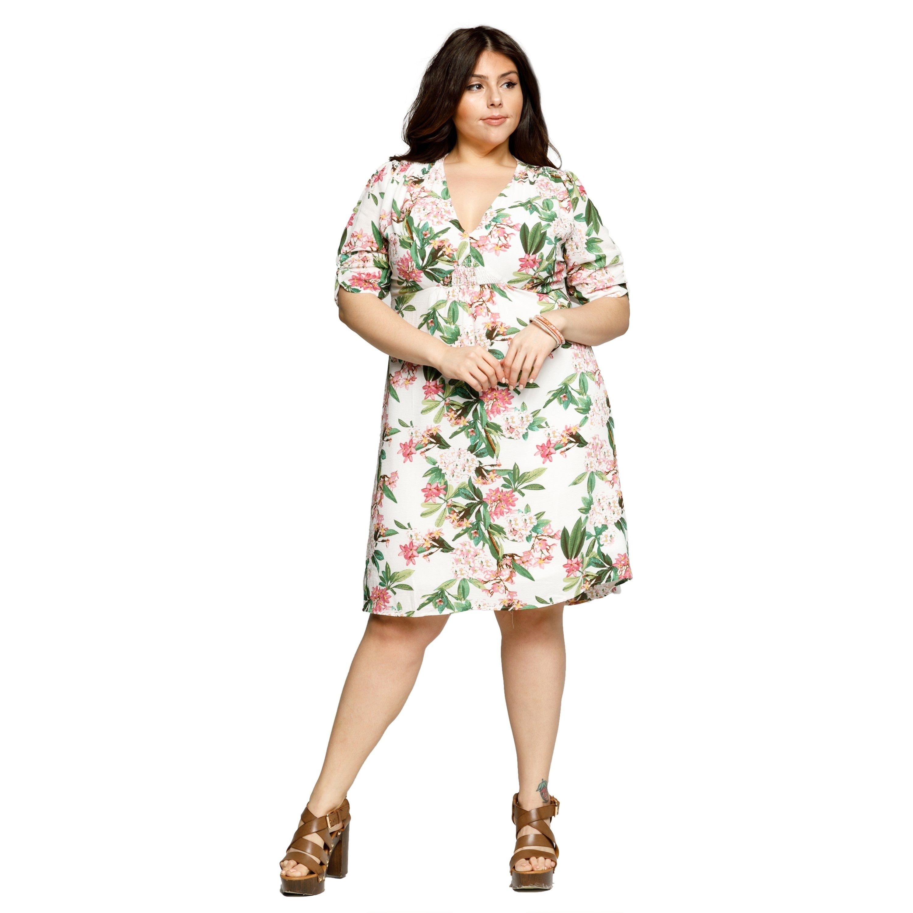 0ddd843d560 Shop Xehar Womens Plus Size Floral Summer Evening Party Short Mini Dress -  On Sale - Free Shipping On Orders Over  45 - Overstock.com - 20169423