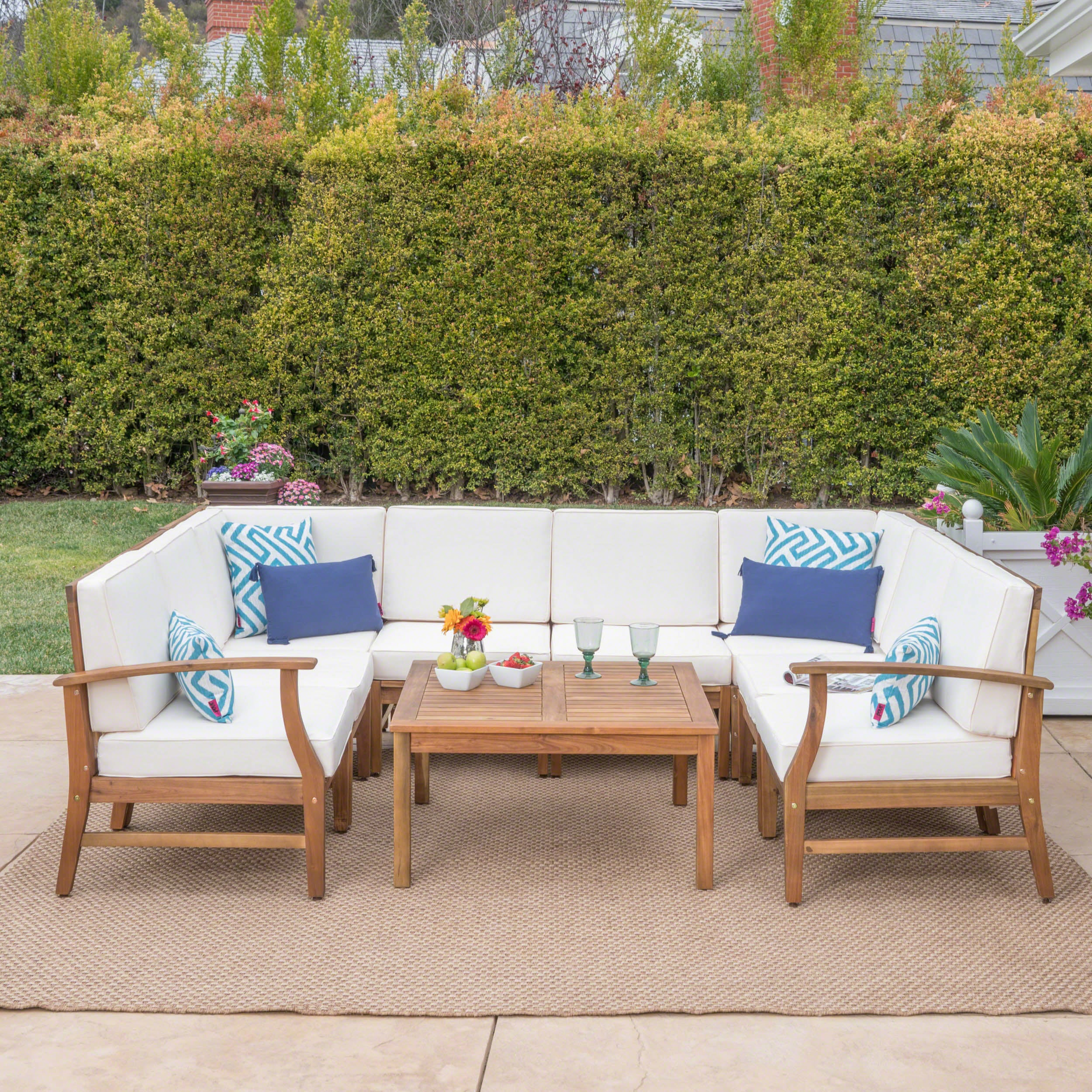 c sectional co wood pcok outdoor patio furniture