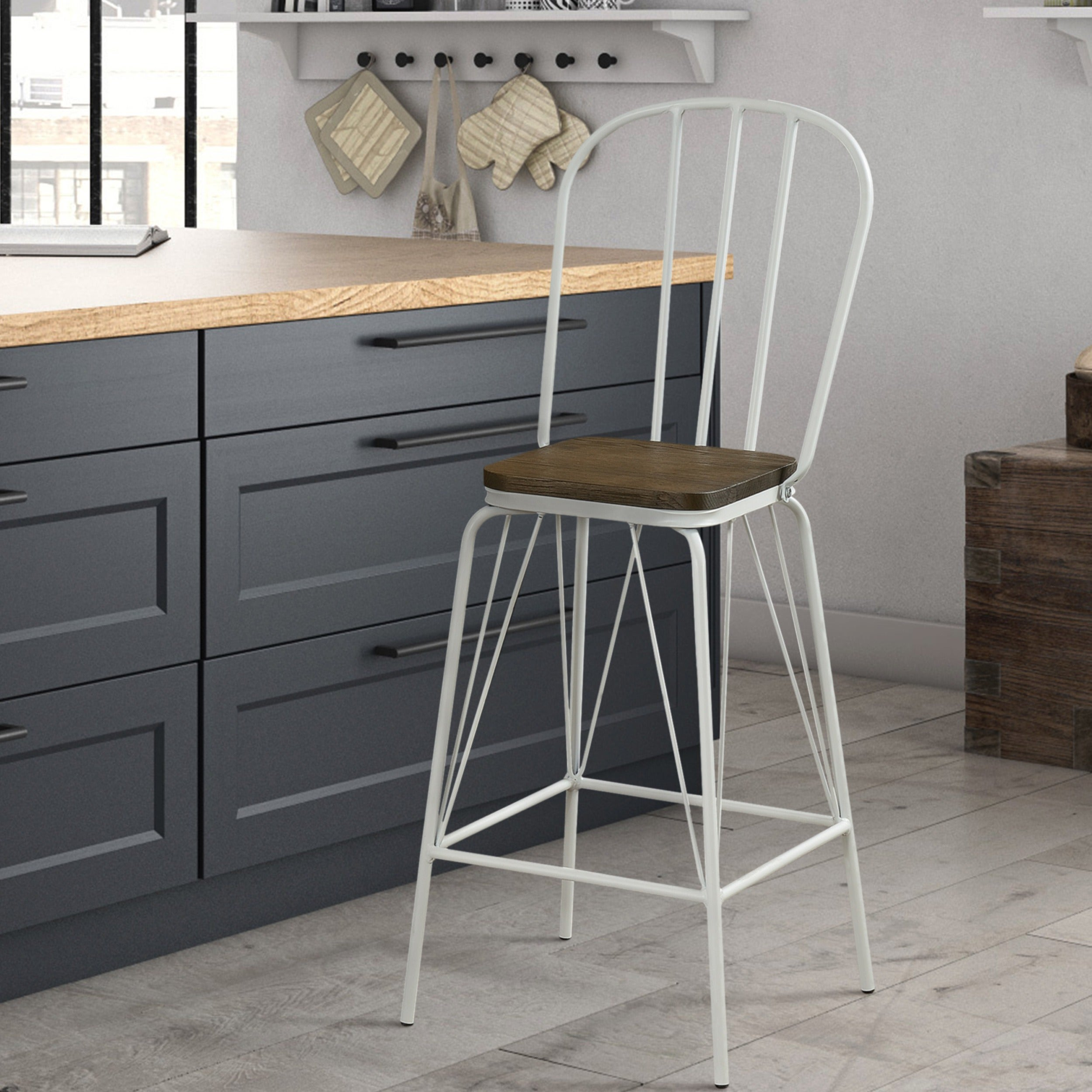 Shop furniture of america jack modern farmhouse counter height chair set of 2 w18 1 221 1 240h on sale free shipping today overstock com