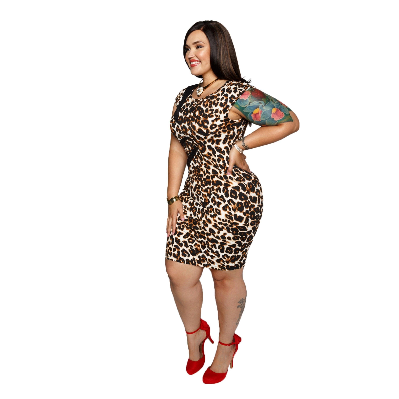 2836e521782 Shop Xehar Womens Plus Size Leopard Print Bodycon Sexy Dress - Free  Shipping Today - Overstock - 20170167