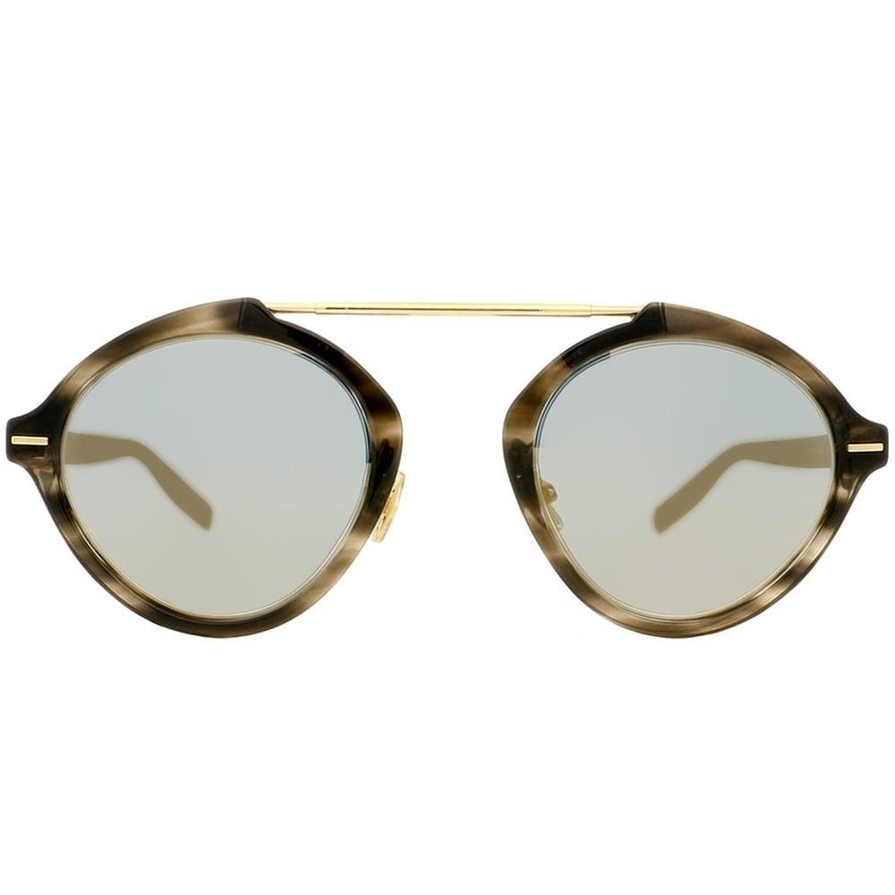 ede93d1c21ac Shop Dior Round System 2OS JO Unisex Havana Matte Black Frame Grey Mirror  Lens Sunglasses - Free Shipping Today - Overstock - 20174117