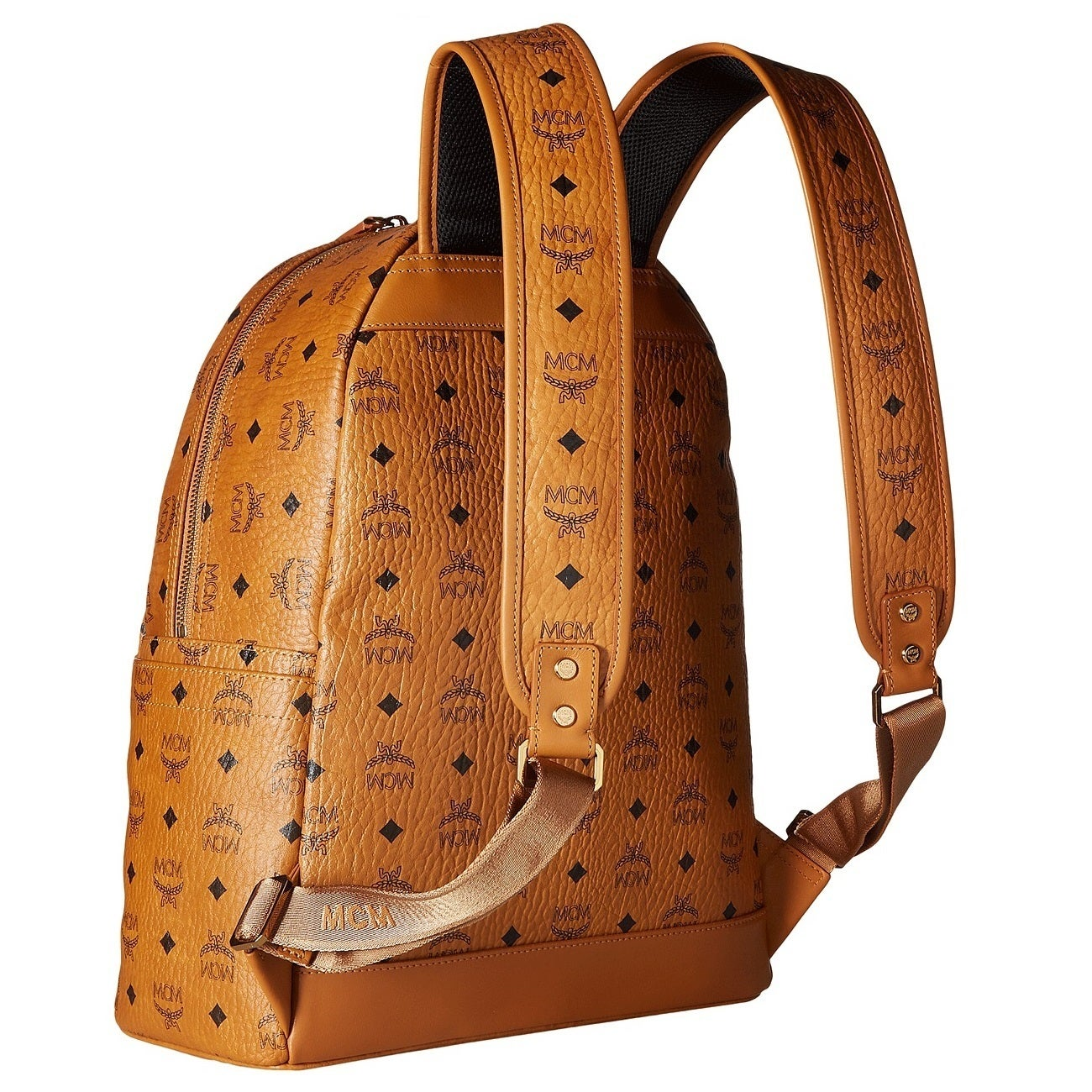 f45276611 Shop MCM Stark Medium Cognac Backpack - On Sale - Free Shipping Today -  Overstock - 20175425