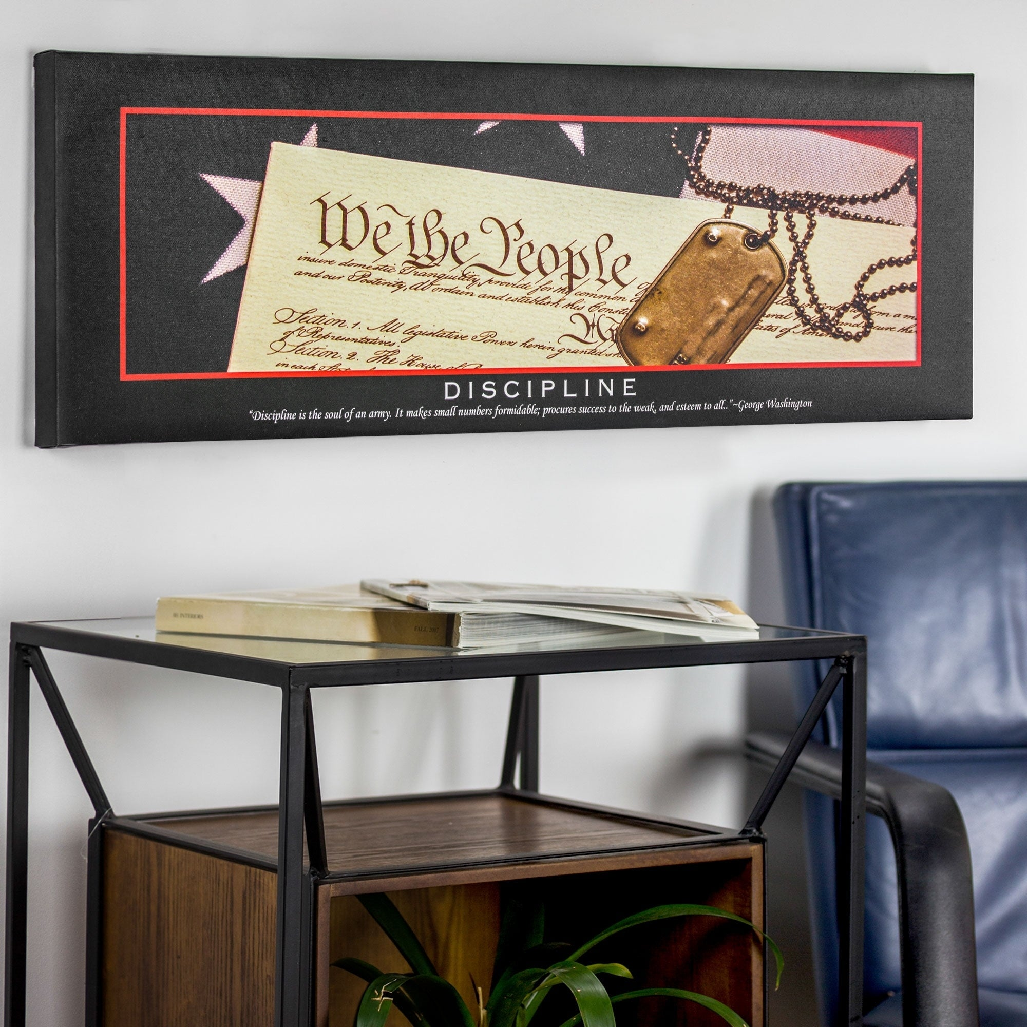Discipline Motivational Inspirational Canvas Print Free Shipping