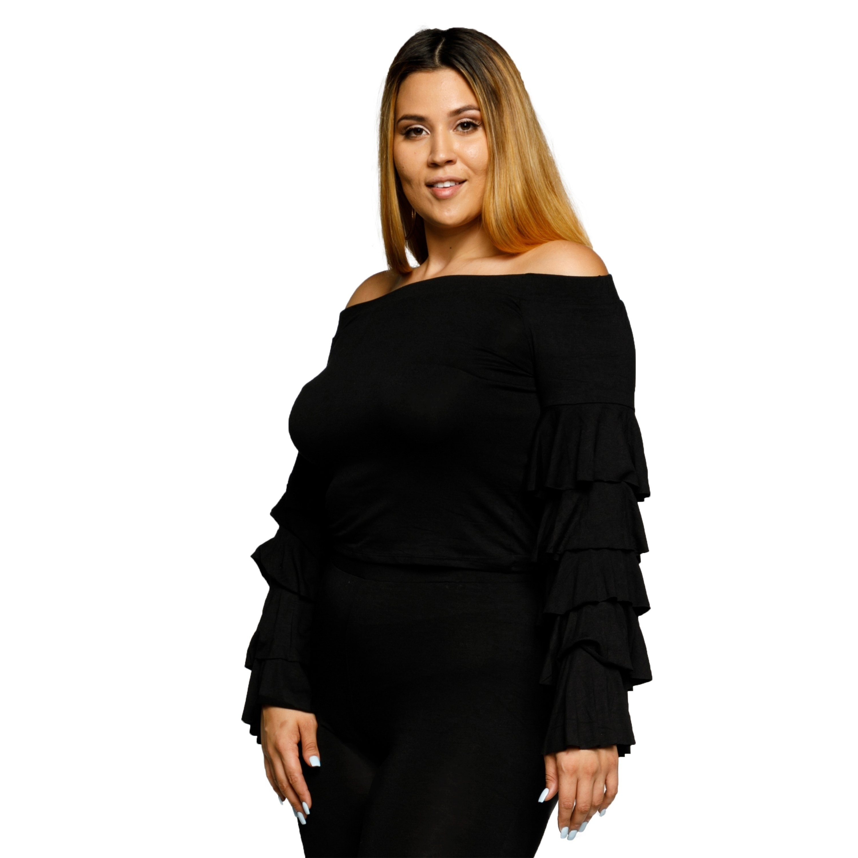 0f4eef2d1855c Long Sleeve Ruffle Blouse Plus Size - Joe Maloy