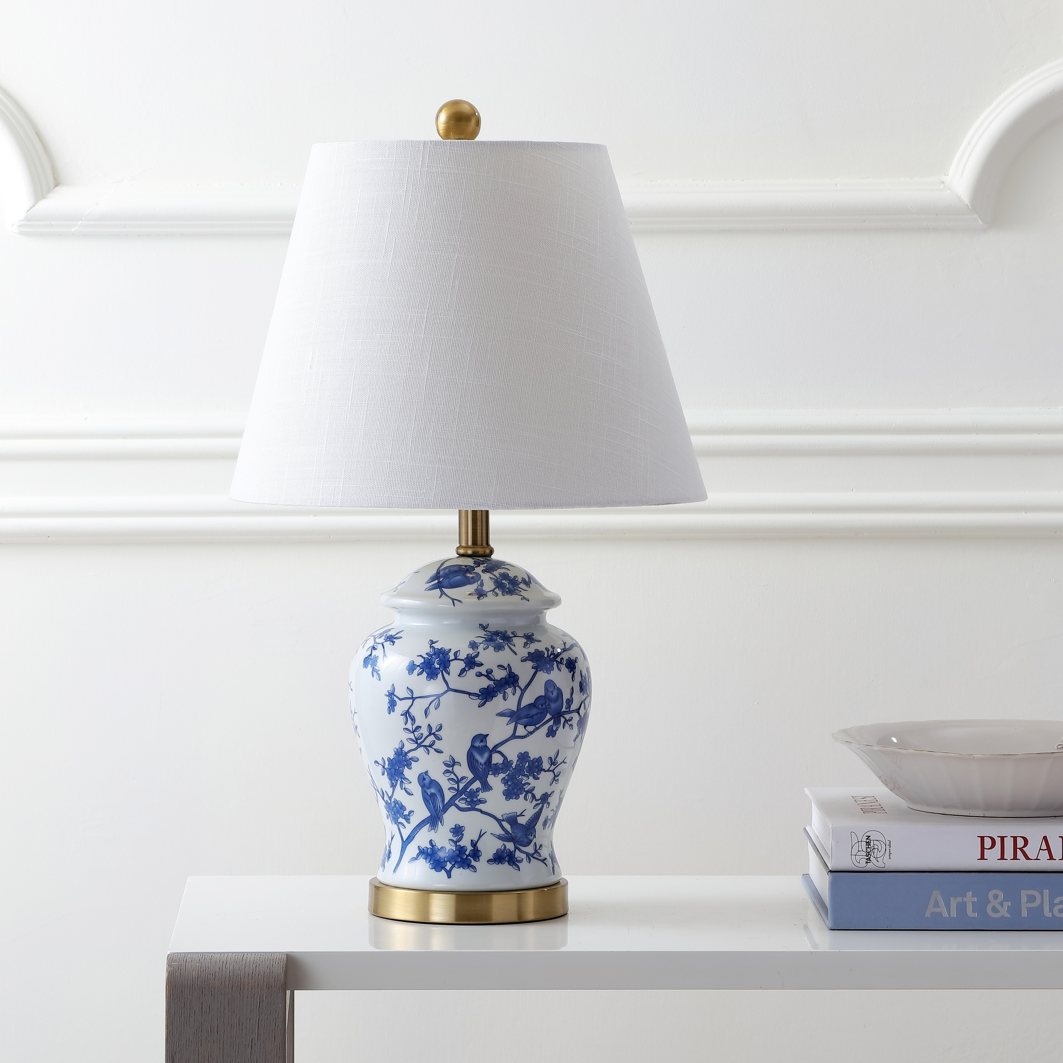 Penelope 22 Chinoiserie Led Table Lamp Blue White By Jonathan Y