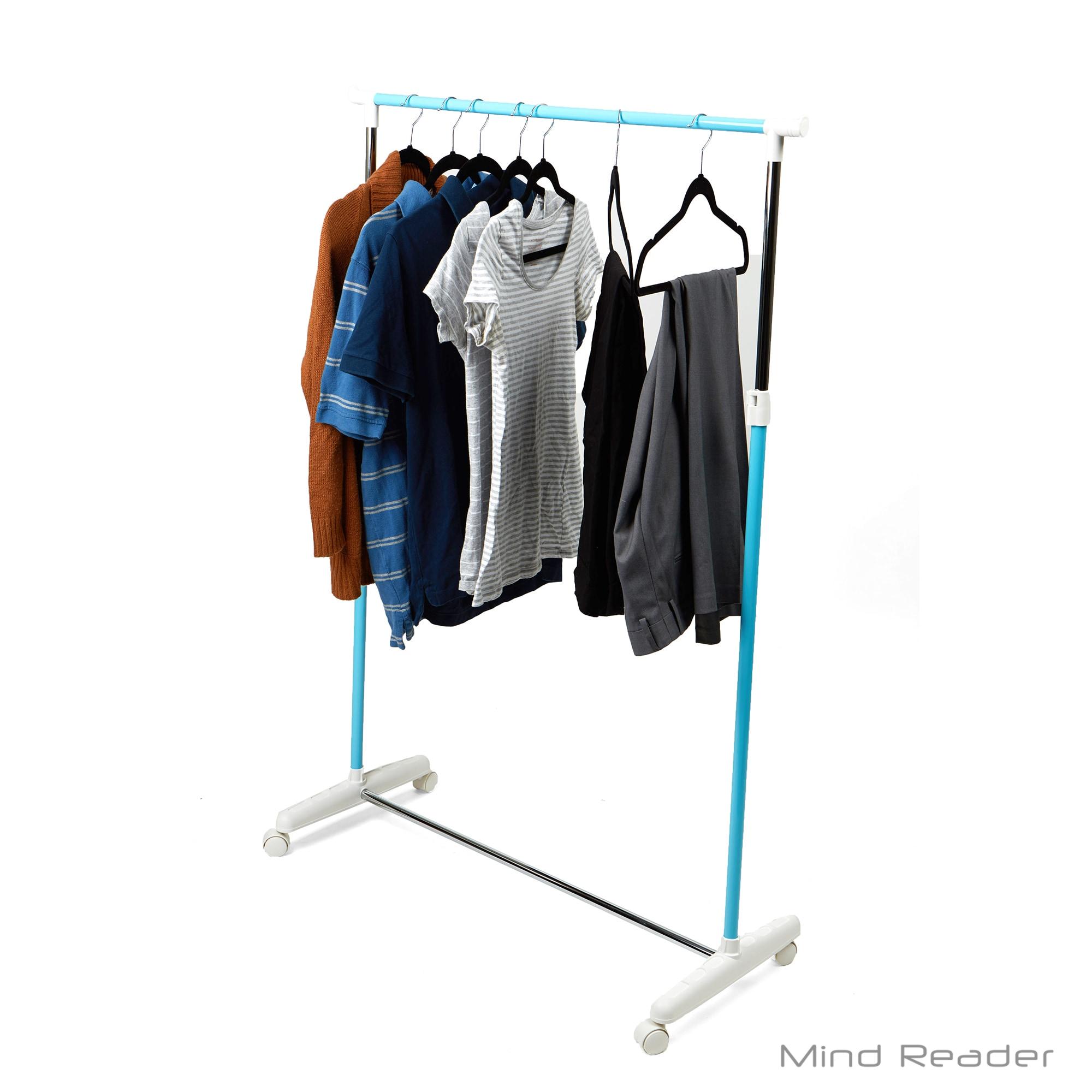 Shop mind reader metal single rolling garment rack blue free shipping on orders over 45 overstock com 20178016