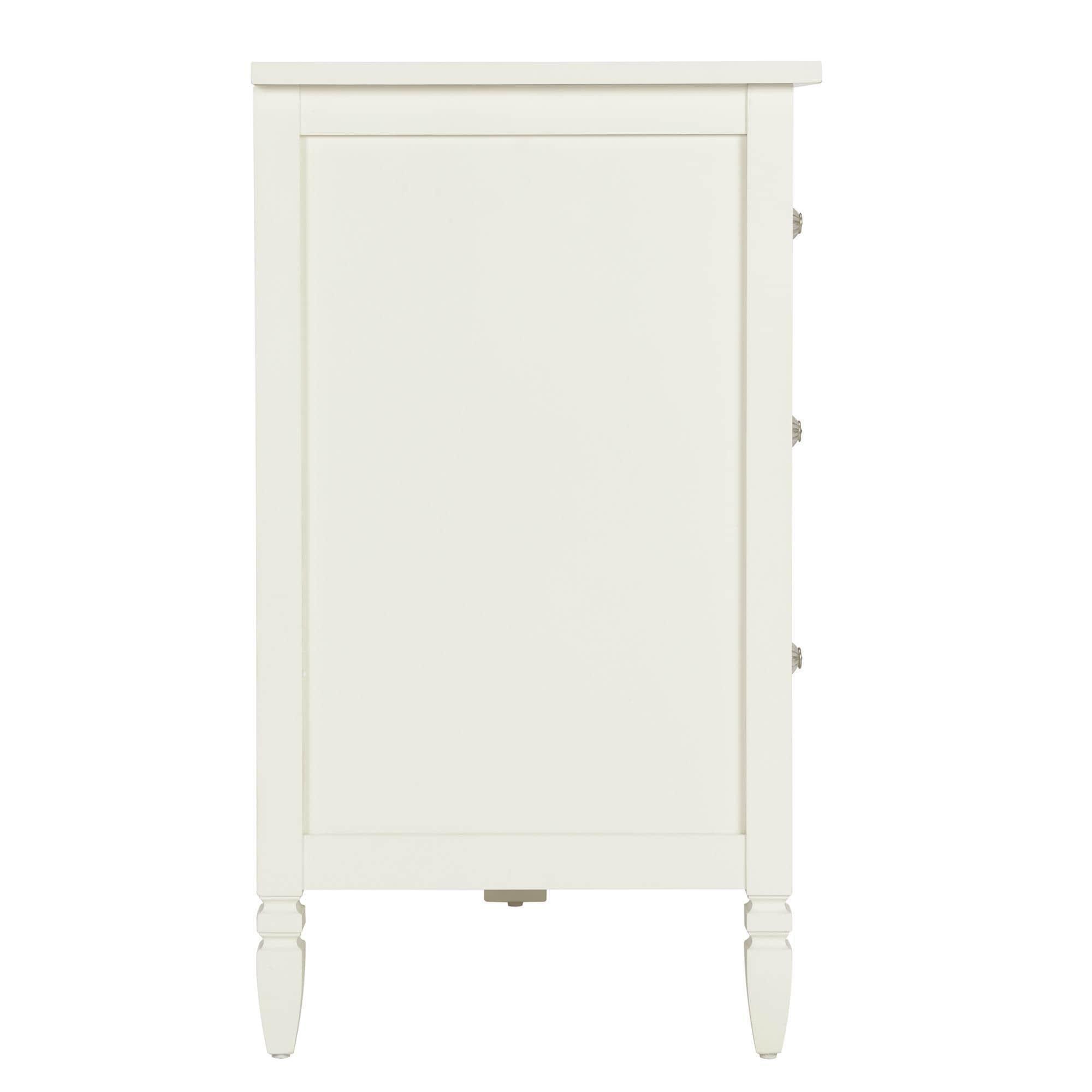 Dorel Living Vivienne White Six Drawer Dresser Free Shipping Today 20187070