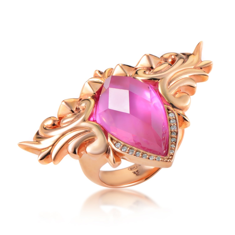 Shop Baroque Superstud Rose Gold Plated Sterling Silver Gemstone ...
