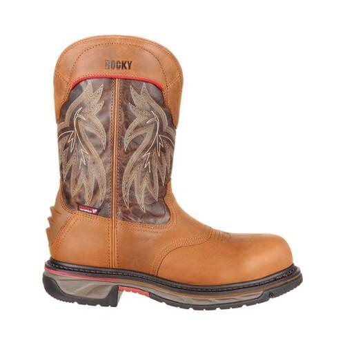Men's Rocky 11in Iron Skull CT WP Western Boot RKW0203 Brown/Dark Brown  Full Grain Leather - Free Shipping Today - Overstock.com - 24089365