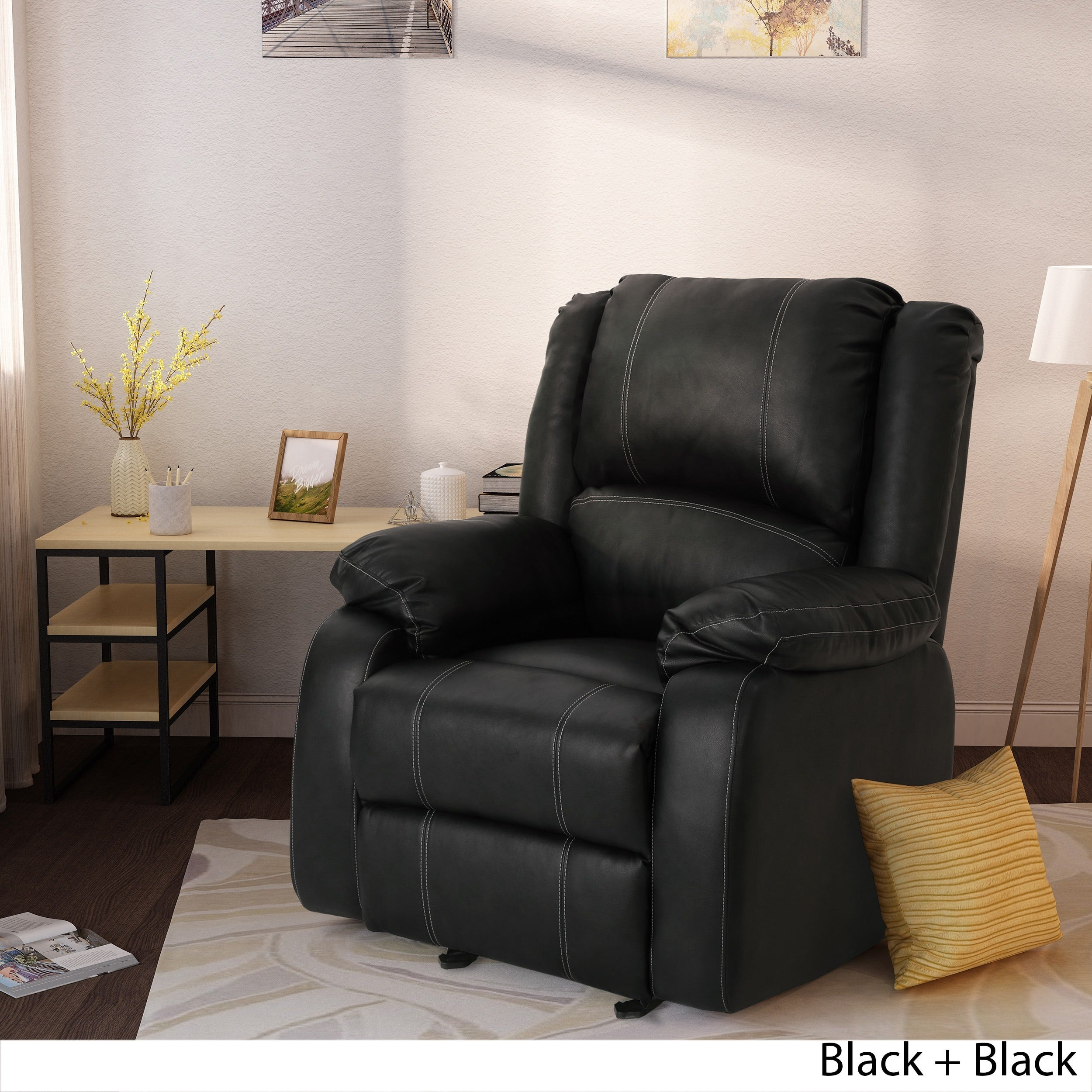 Toprak Traditional Faux Leather Recliner Club Chair By Christopher Knight  Home   Free Shipping Today   Overstock   26091569
