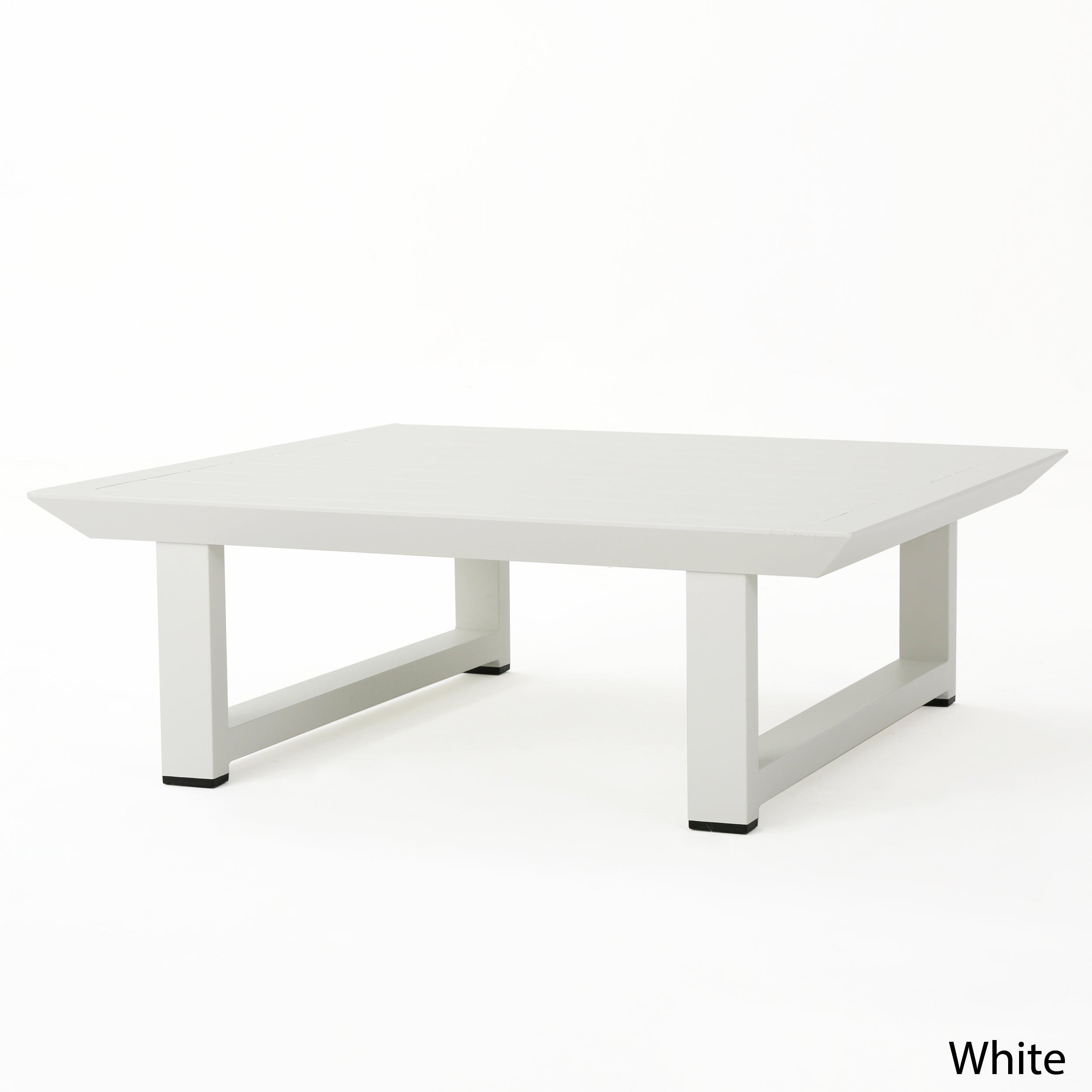 Bronte Outdoor Aluminum Square Coffee Table By Christopher Knight Home On Free Shipping Today 20216773