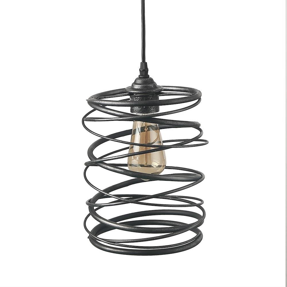 Shop lnc 1 light contemporary ceiling light spiral pendant lighting shop lnc 1 light contemporary ceiling light spiral pendant lighting free shipping today overstock 20217095 aloadofball Images