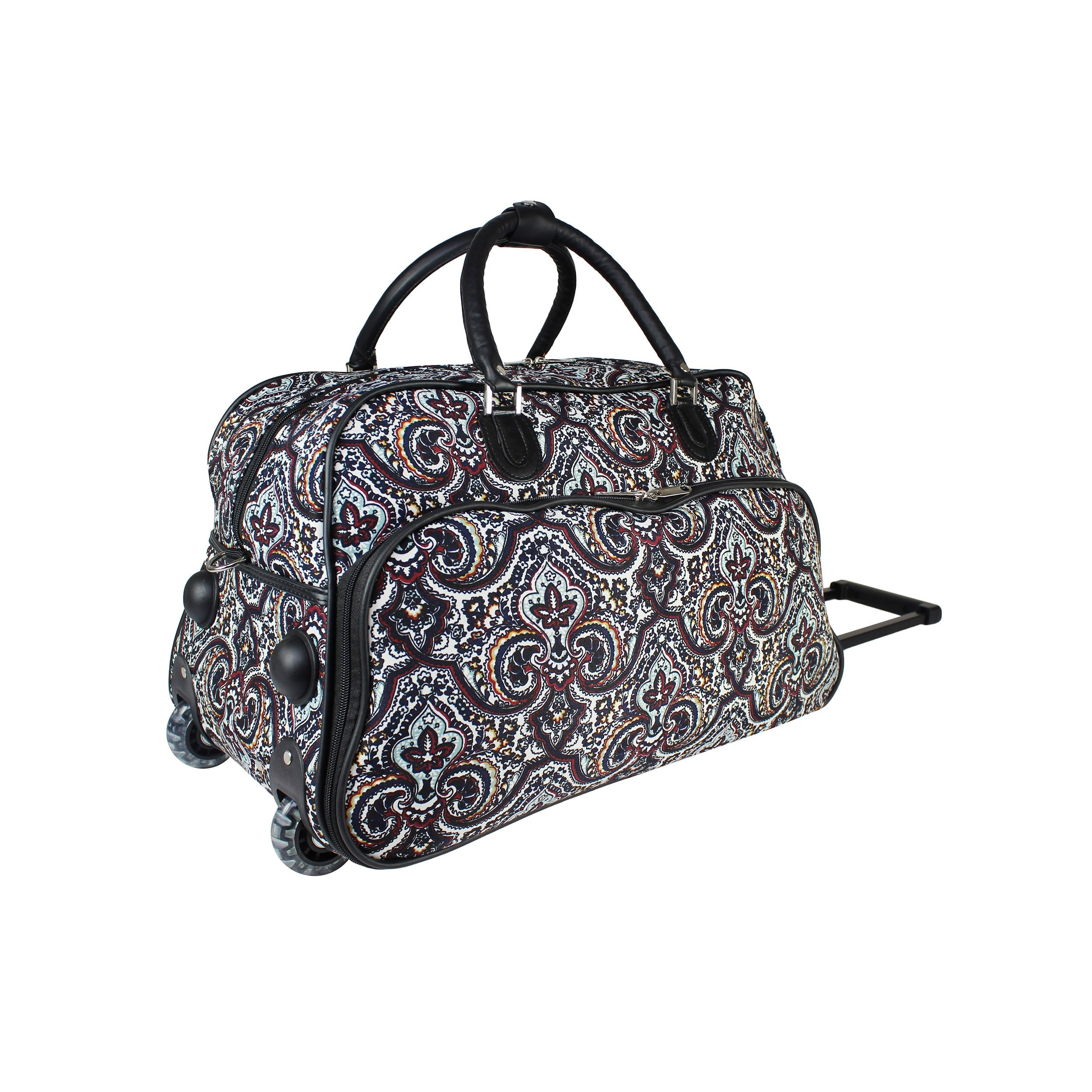 Shop World Traveler Boutique Collection 21-Inch Rolling Upright Carry-On Duffel  Bag - Free Shipping Today - Overstock.com - 20218949 b08f0165e8