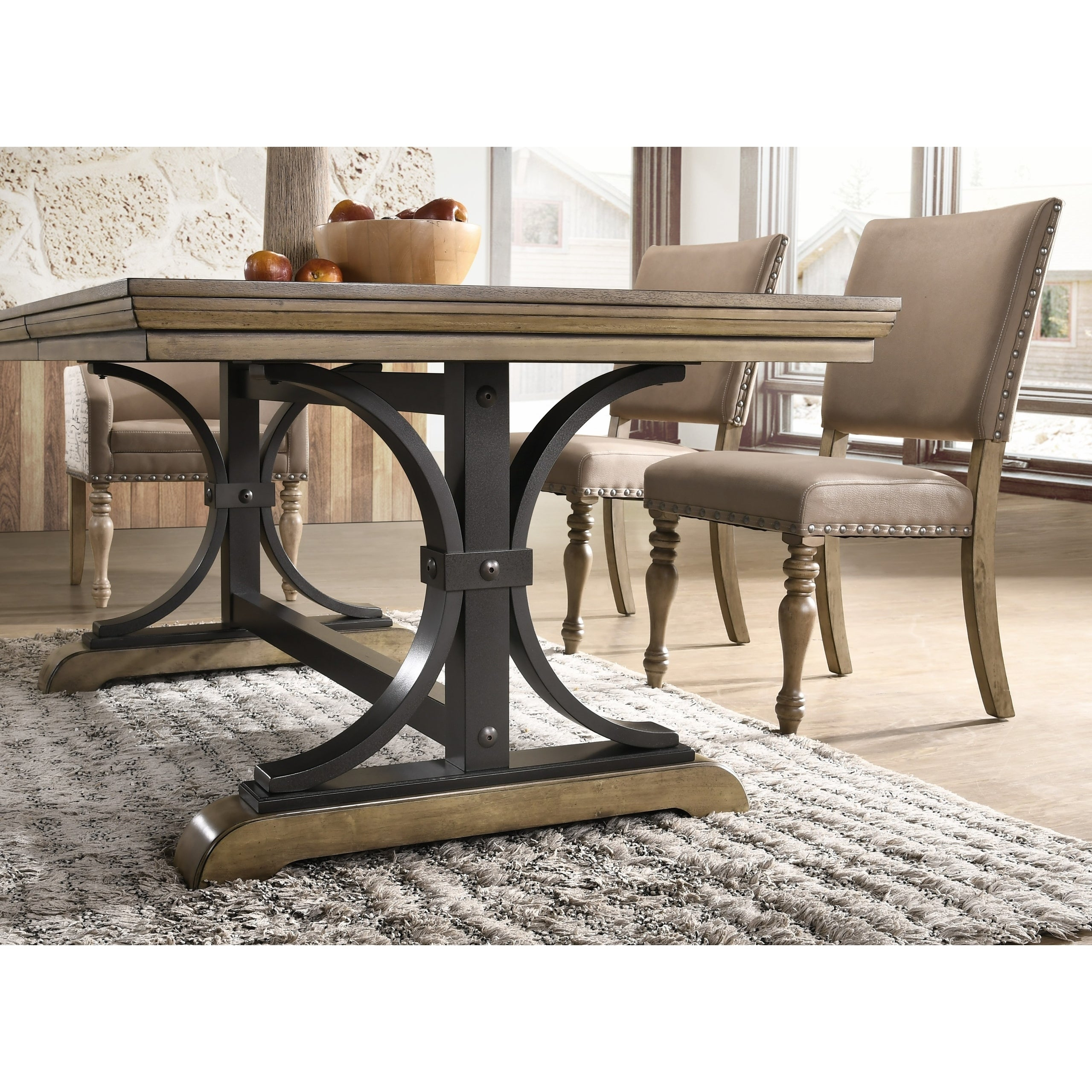 Shop birmingham 9 piece removable leaf table with arm dining chairs set free shipping today overstock 20219238