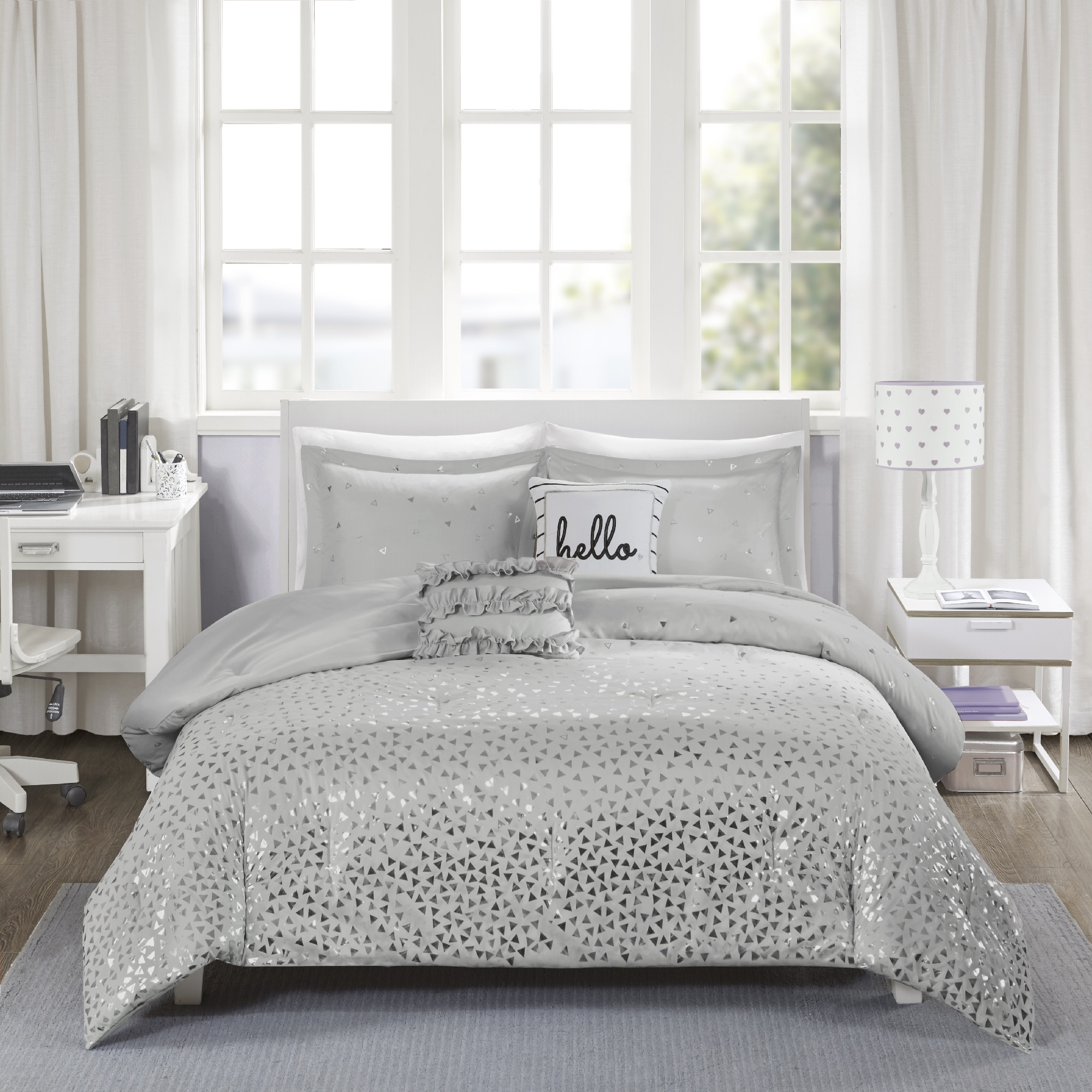 white info and bedding museosdemolina silver ebay sets comforter uk ideas queen
