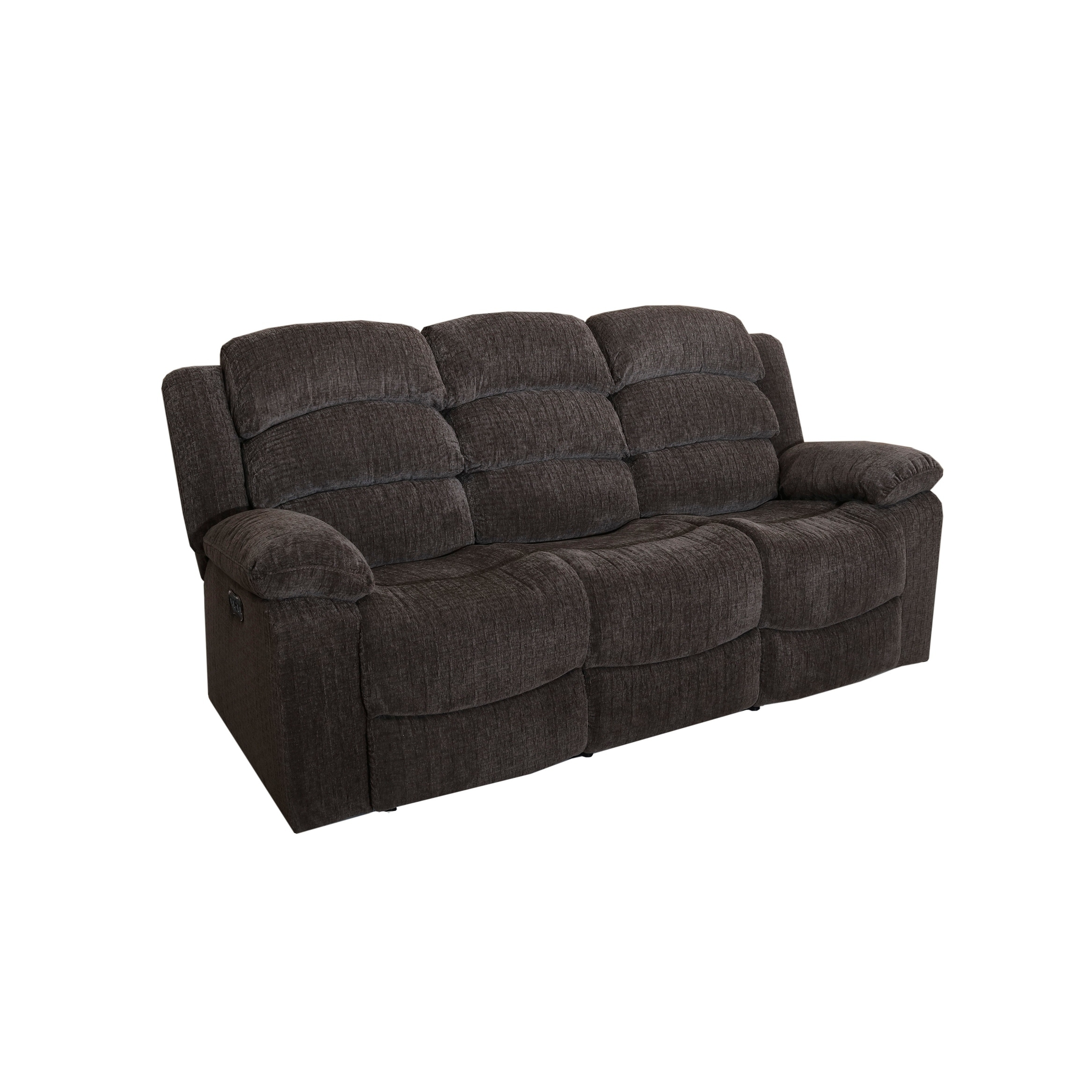 Shop Austin Stone Full Power Dual Recliner Sofa With Headrest On