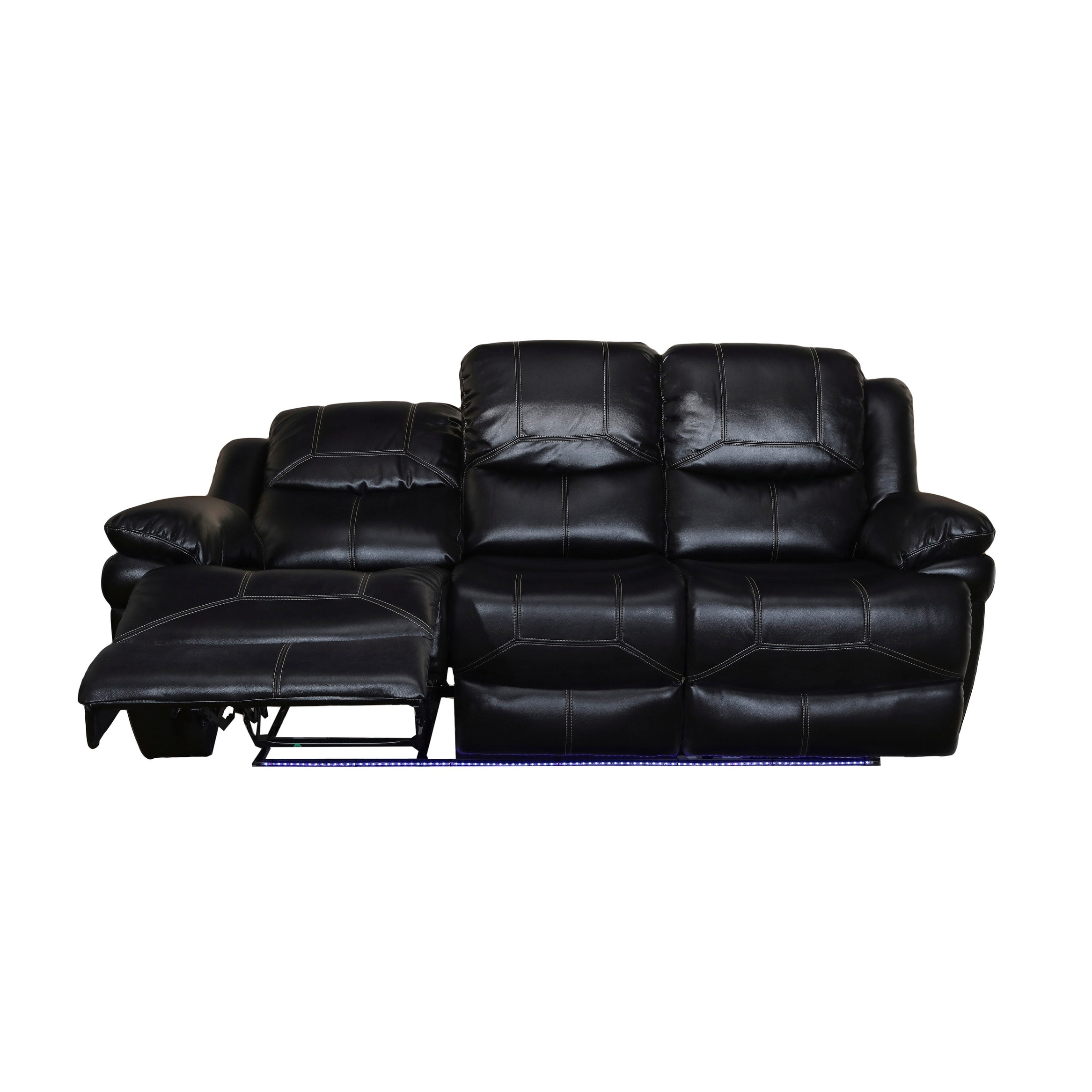 motion recliner power shipping reclining overstock sofa home premier dual flynn today product garden free black