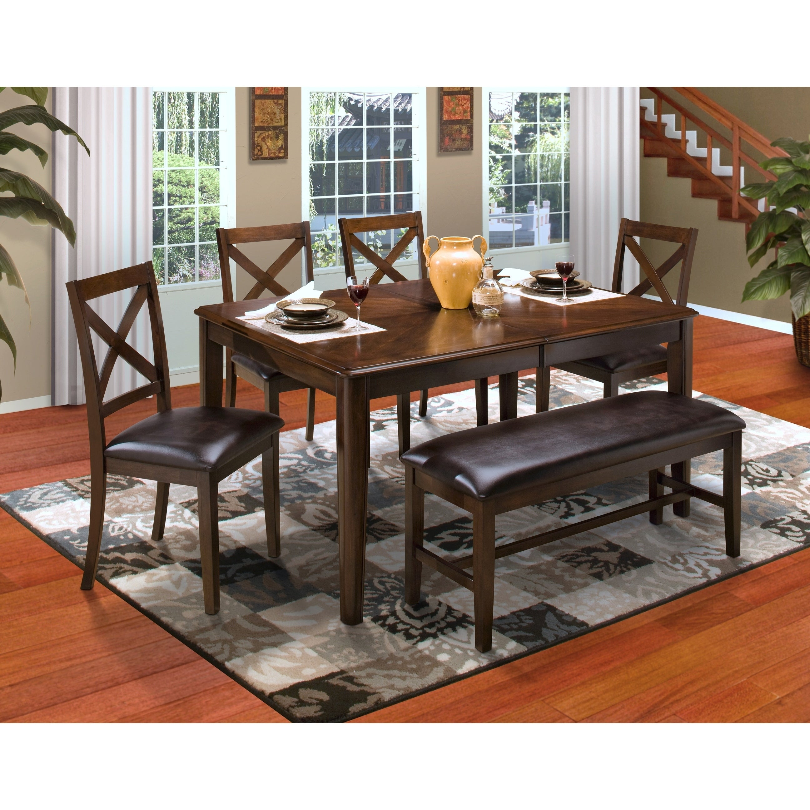 Laudes Chestnut Round Corner Dining Table Free Shipping Today 26109914