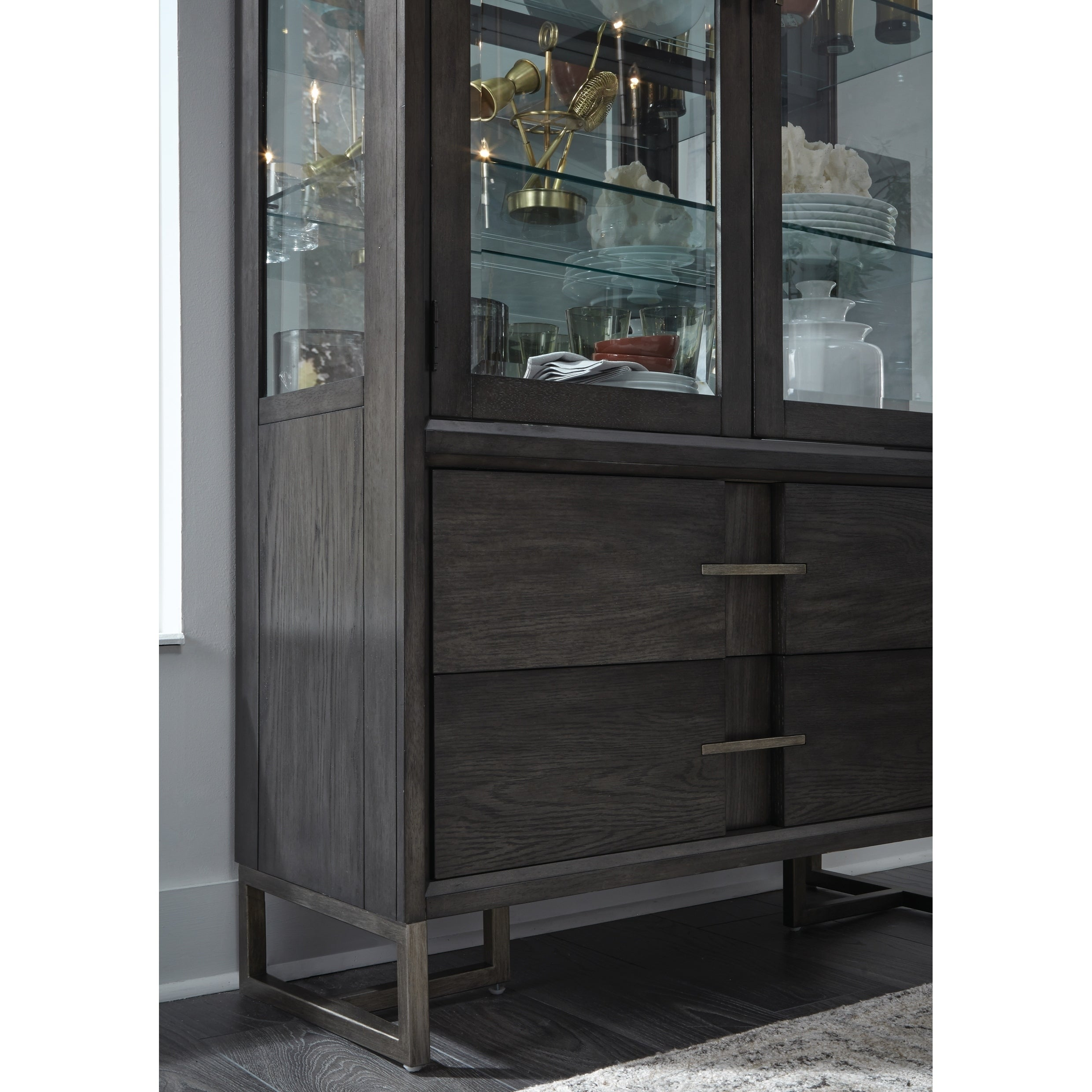 Proximity Heights Contemporary Curio China Cabinet   Free Shipping Today    Overstock   26110298