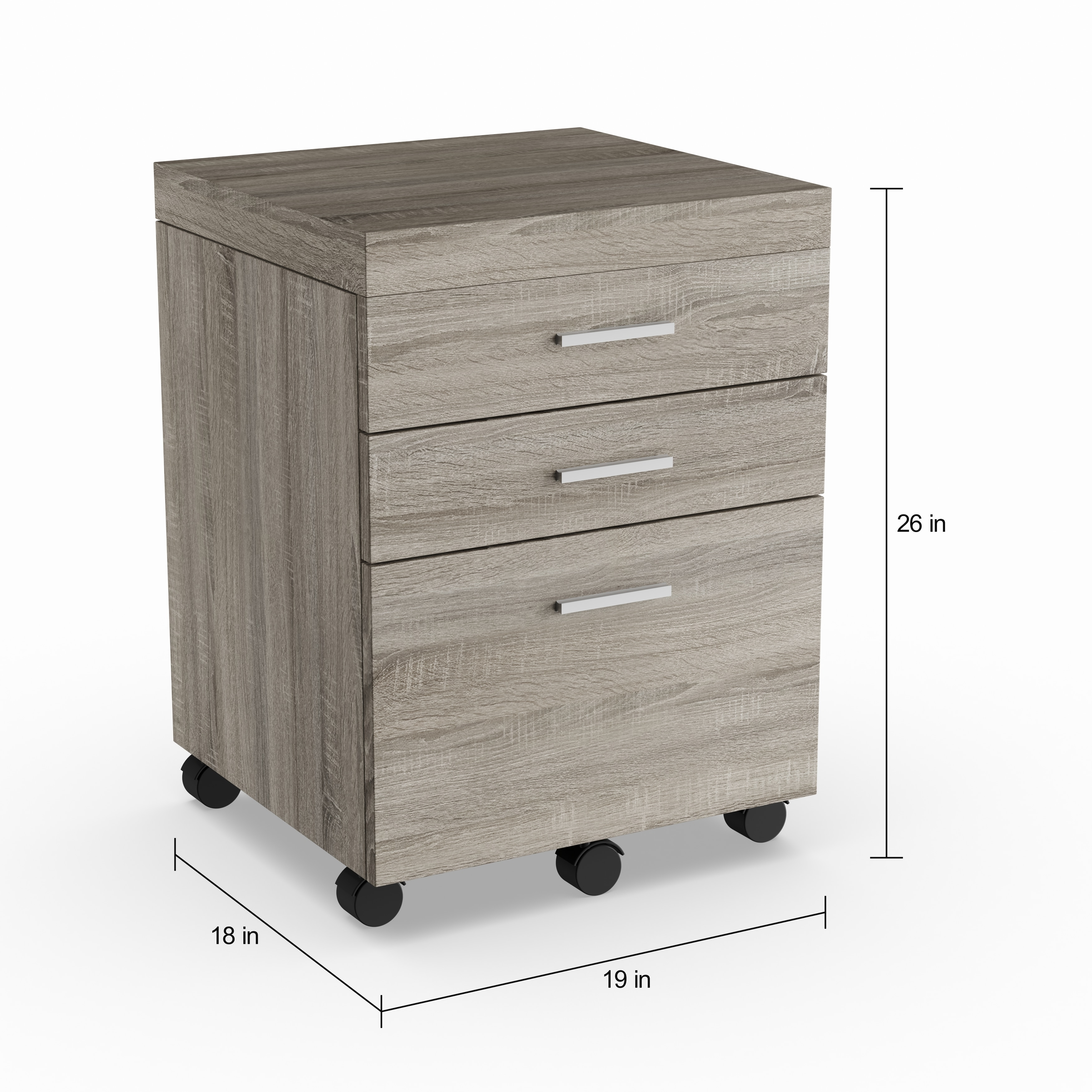 Shop Strick \u0026 Bolton Joffe 3-drawer File Cabinet - Free Shipping Today Overstock.com 20223255