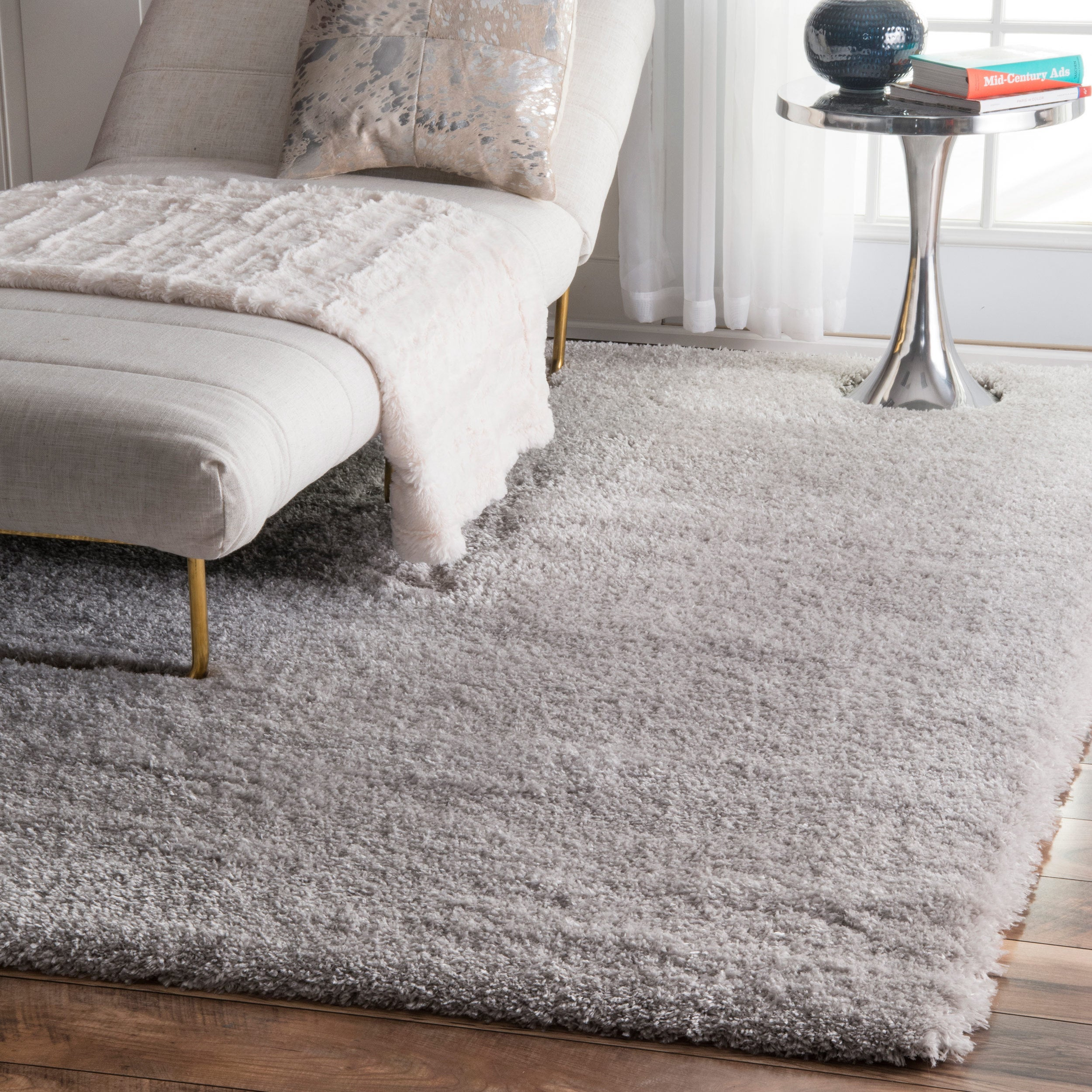 Silver Orchid Rita Solid Area Rug 4 X 6 Free Shipping Today 20223380