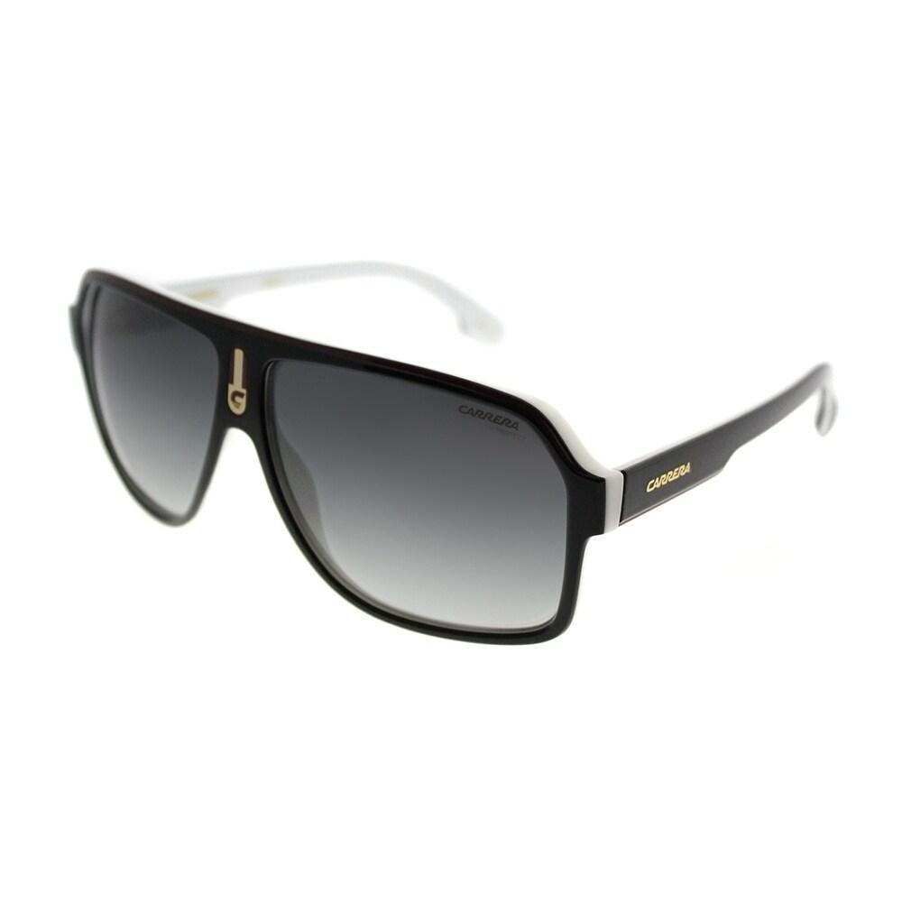 74f405fac73c4 Carrera Aviator Carrera 1001 S 80S 9O Unisex Black White Frame Grey  Gradient Lens Sunglasses