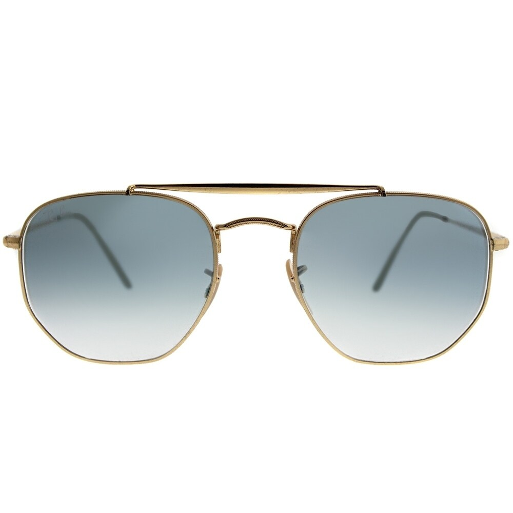77866217b4 Shop Ray-Ban Square RB 3648 The Marshall 001 3F Unisex Gold Frame Blue  Gradient Lens Sunglasses - Free Shipping Today - Overstock - 20224327