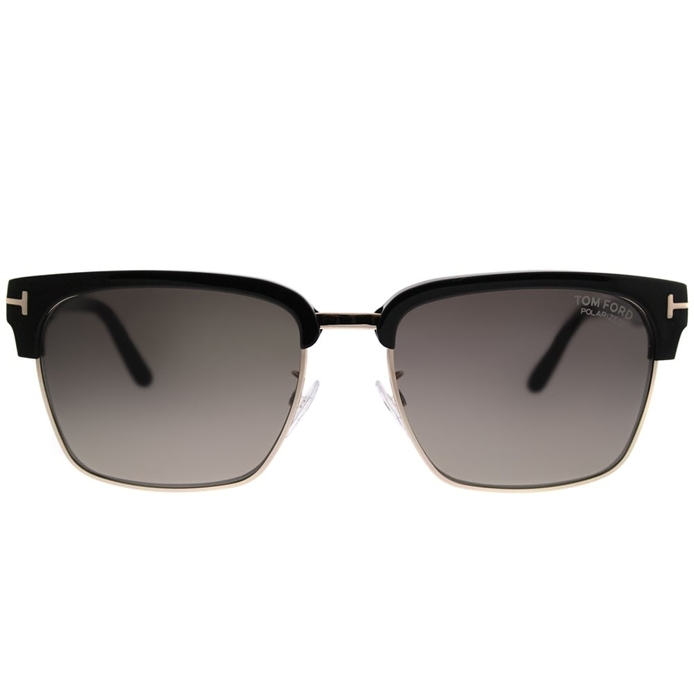 fd1826781f6 Shop Tom Ford Square TF 367 River 01D Unisex Shiny Black Gold Frame Grey  Polarized Lens Sunglasses - Free Shipping Today - Overstock - 20224339