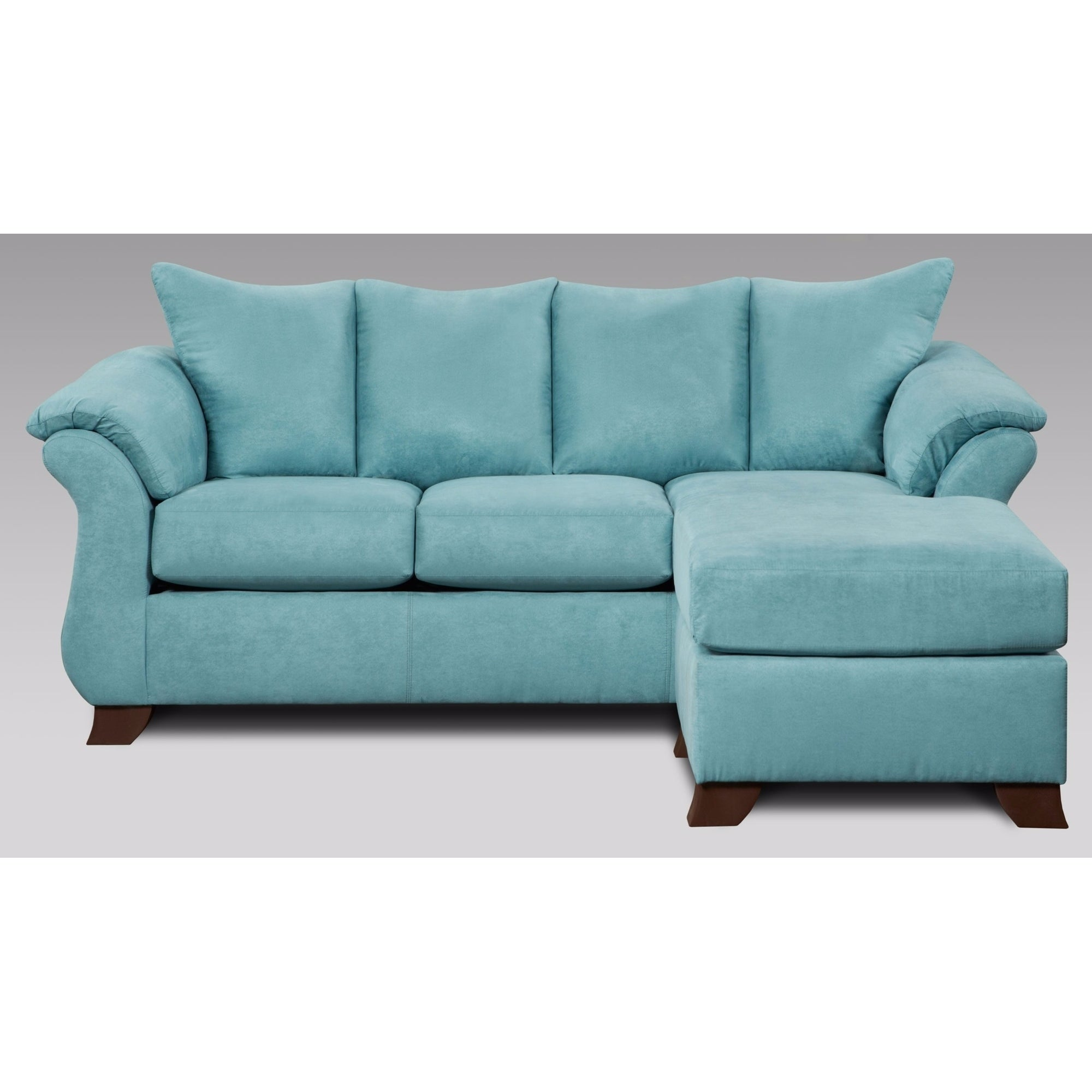 Shop Norris Sensations Capri Microfiber Pillow Back Sofa W/ Chaise And  Loveseat Set   Free Shipping Today   Overstock.com   20227145