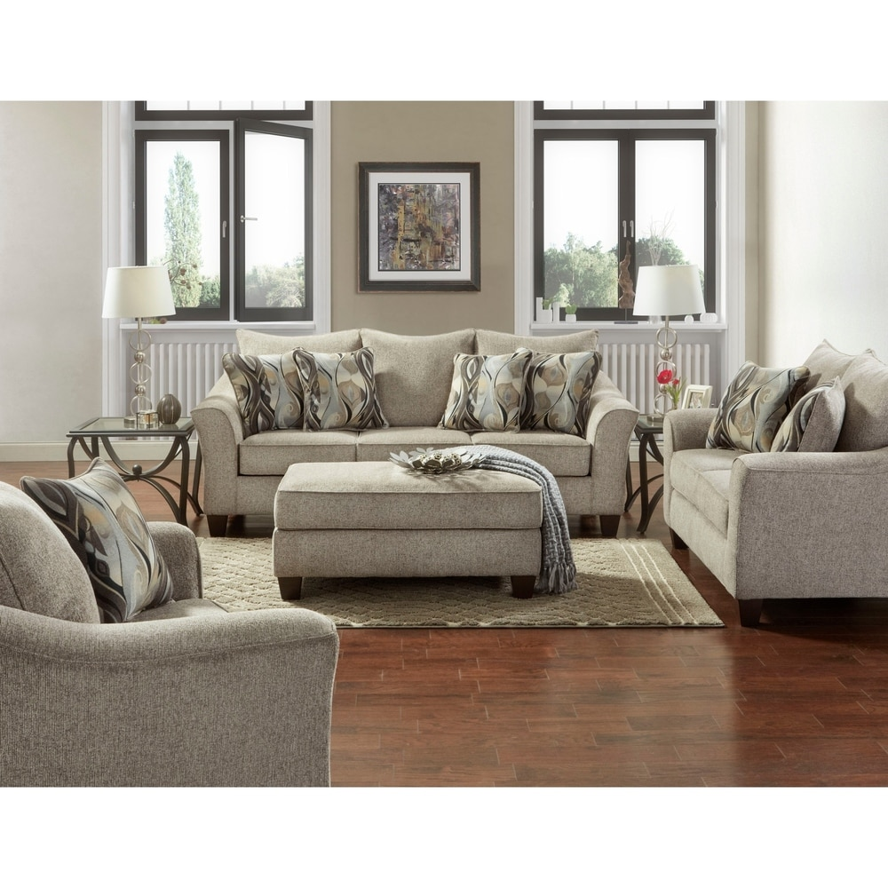 Camero Fabric 10-piece Neutral Textured Living Room Set