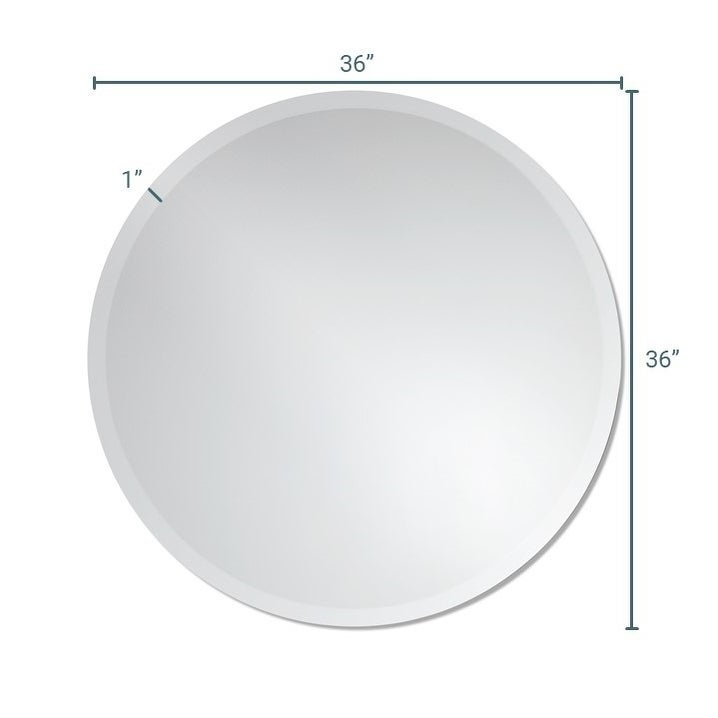 Shop Frameless Round Wall Mirror By The Better Bevel Silver Free
