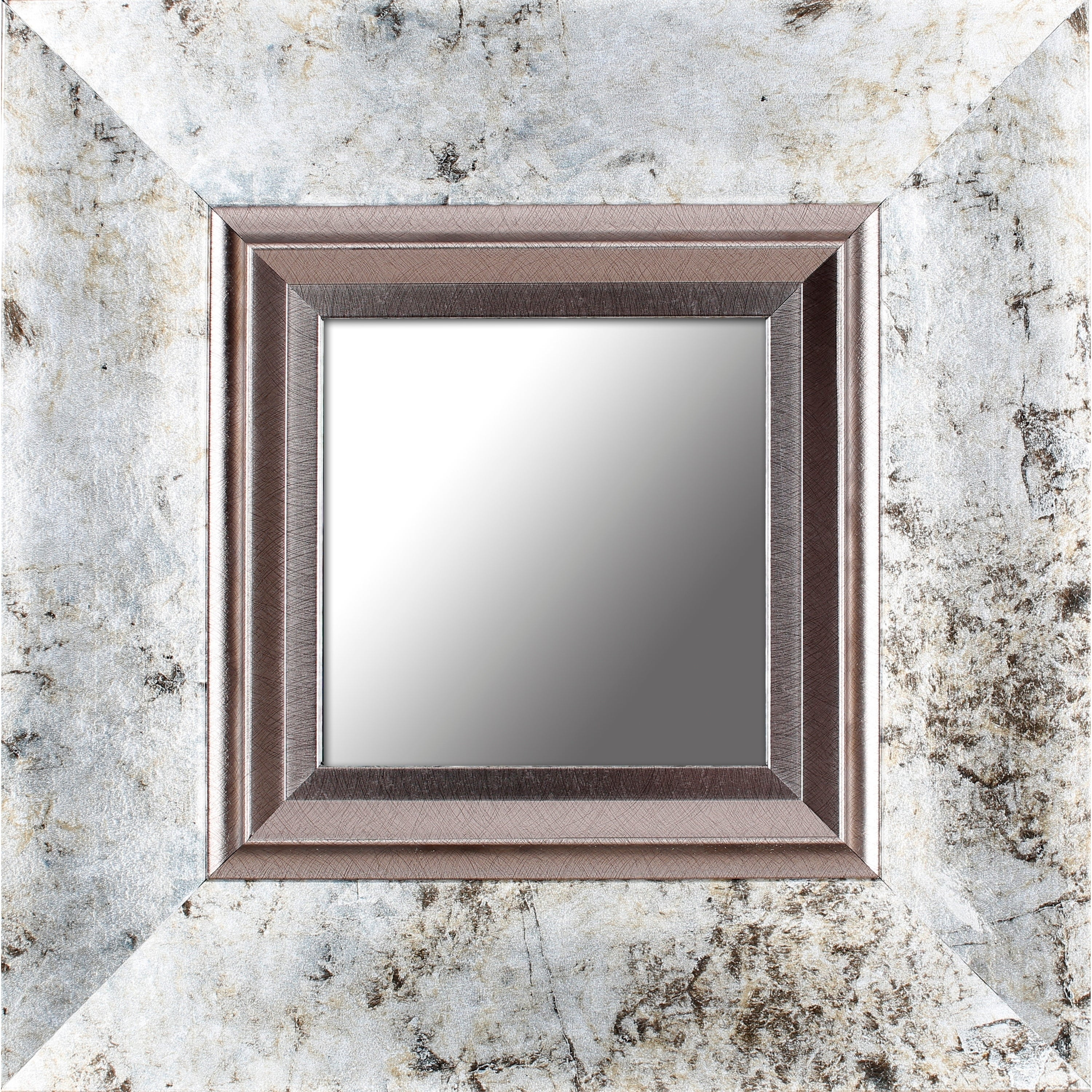 Mirrorize Canada Brown Marble Wall Mirrors Set Of 4 Free