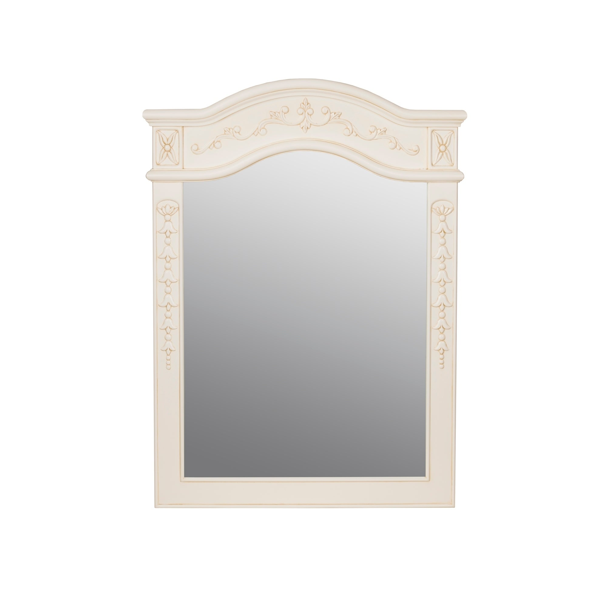 Shop Ronbow Bordeaux Antique White Wood Framed 24-inch x 34-inch ...