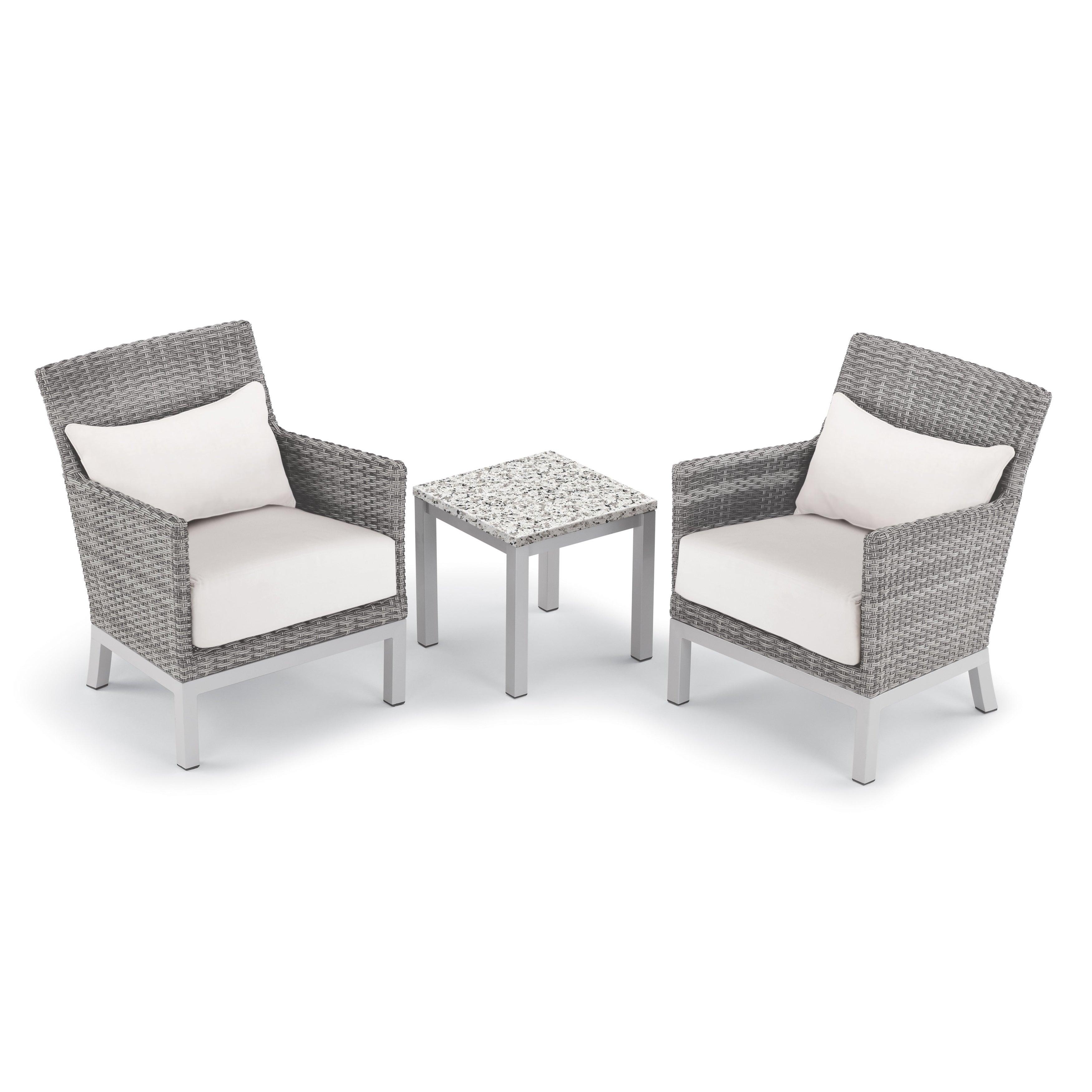 shop oxford garden argento 3 piece resin wicker club chair pillows
