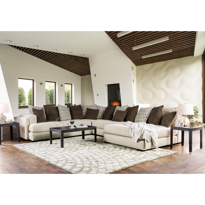 Shop Furniture of America Benino Contemporary Cream U-Shaped ...