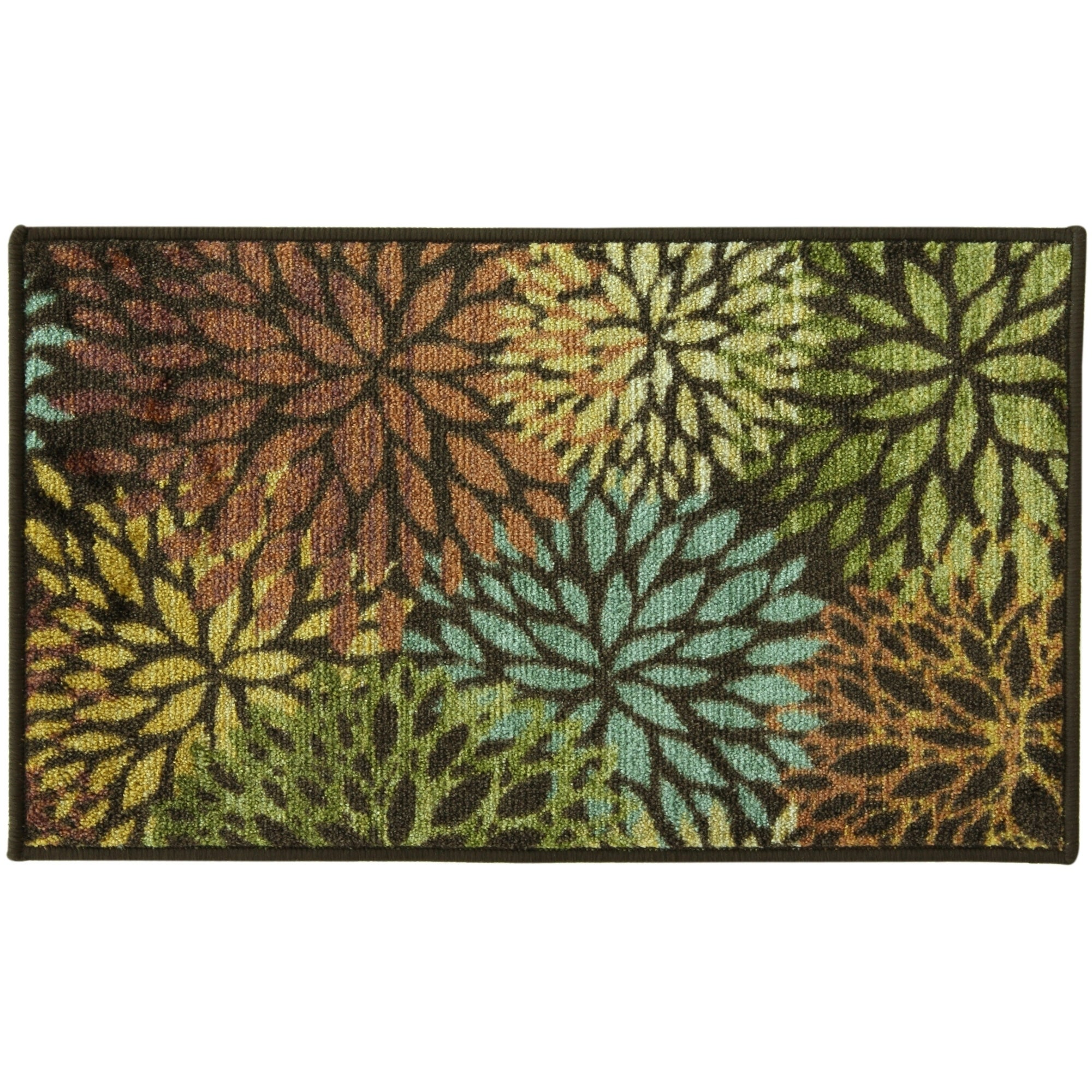 Shop Fleur Cut Nylon Tufted Accent Rug By Bacova Brown Gold 3 4