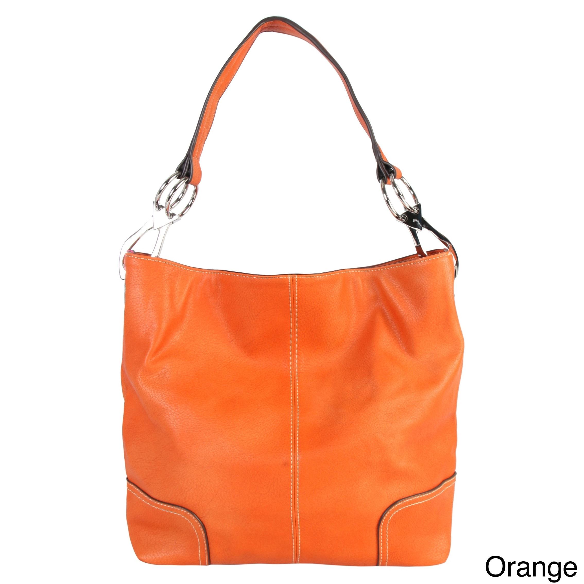 Shop Diophy Faux Leather Patch Corner Hobo Handbag - L - Free Shipping On  Orders Over  45 - Overstock.com - 20230594 4e64012143