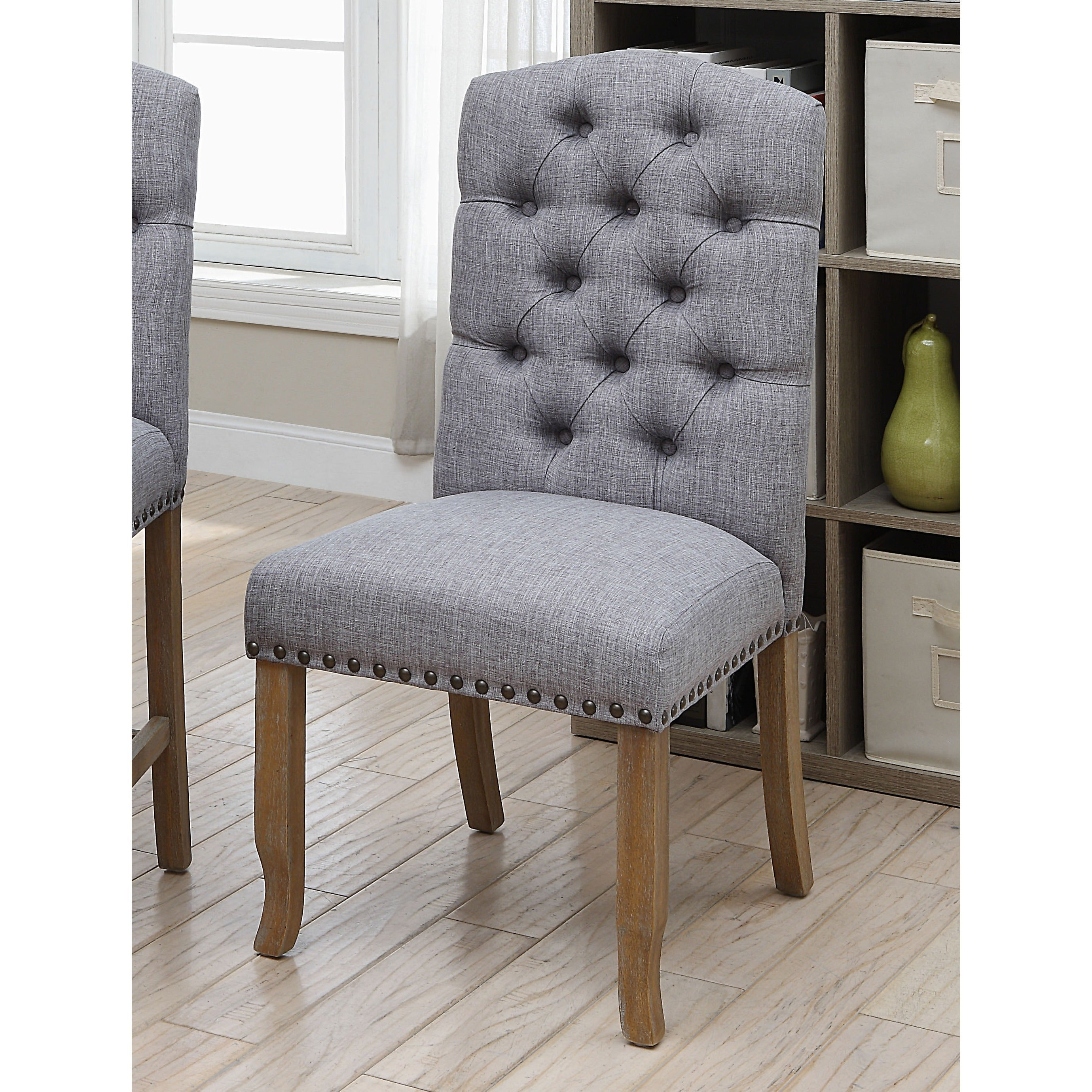 Nice Furniture Of America Matheson Rustic Tufted Dining Chairs (Set Of 2)   Free  Shipping Today   Overstock   26120439