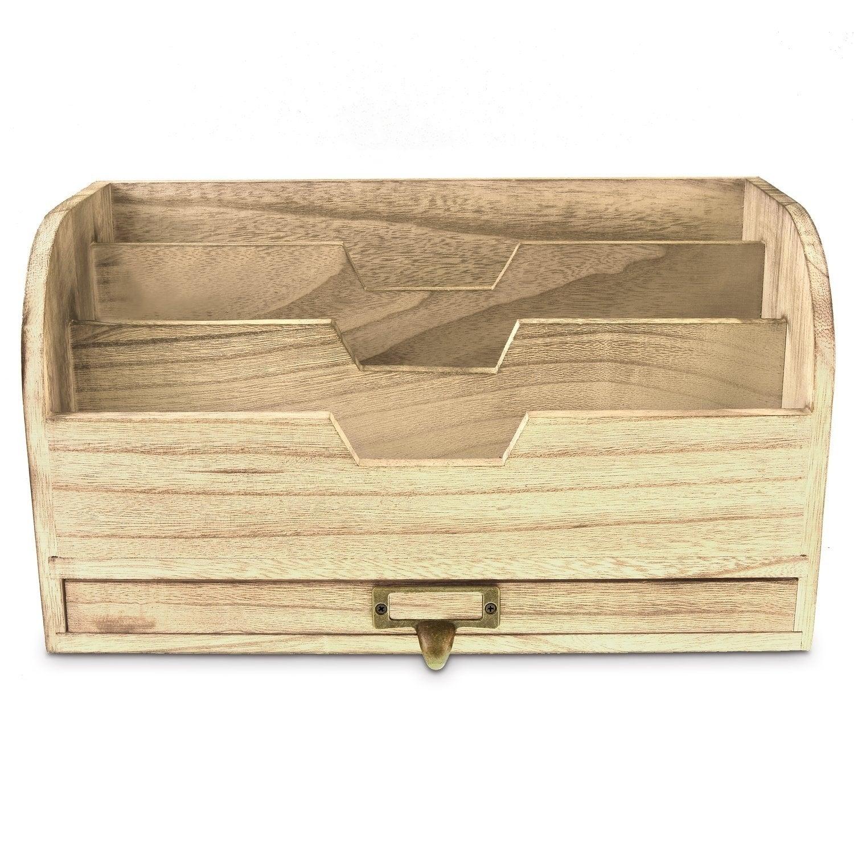 Shop Ikee Design Wooden Desktop Organizer For Stacking File ...