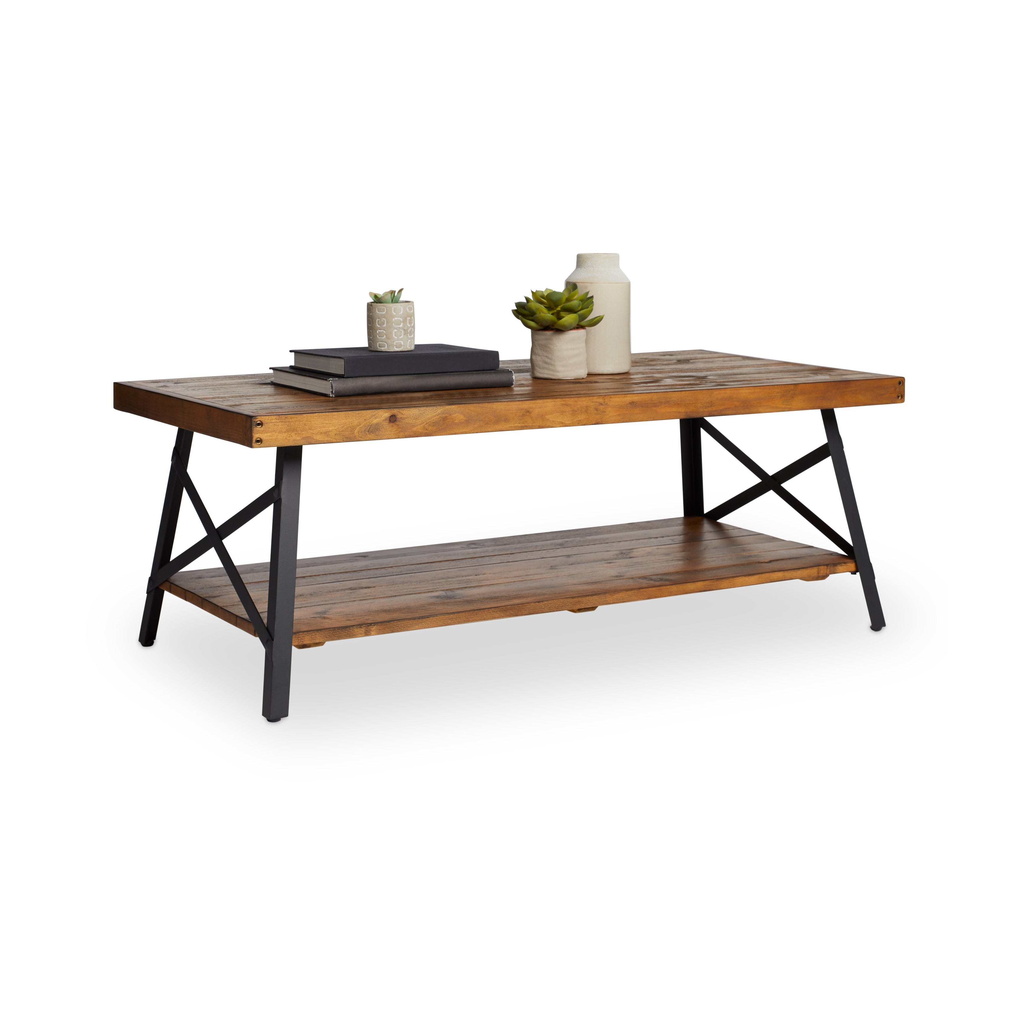 Shop Pine Canopy Kaibab Modern Rustic Wood Coffee Table   Free Shipping  Today   Overstock.com   20253954
