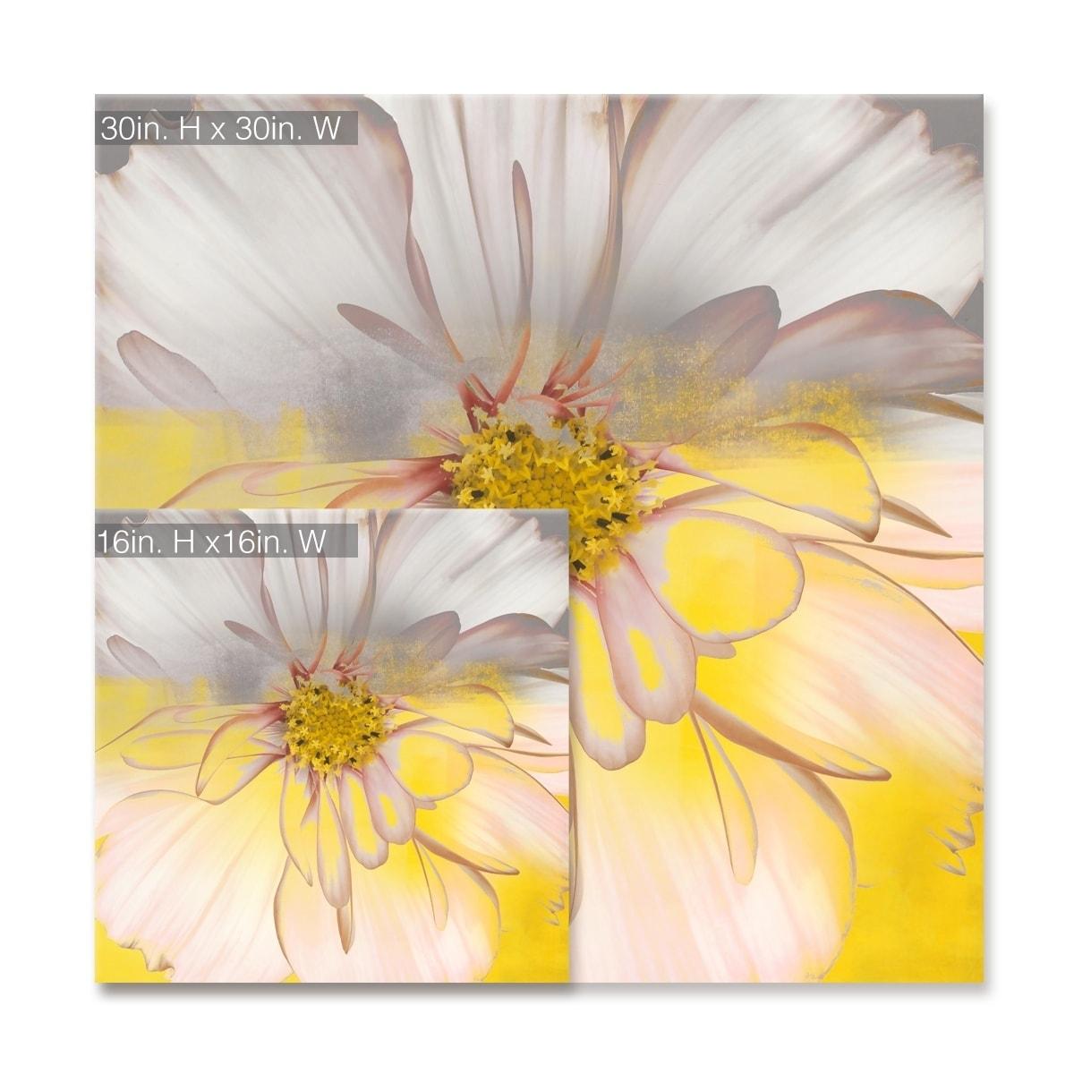 Silver Orchid Wayne 'Painted Petals' Canvas Art