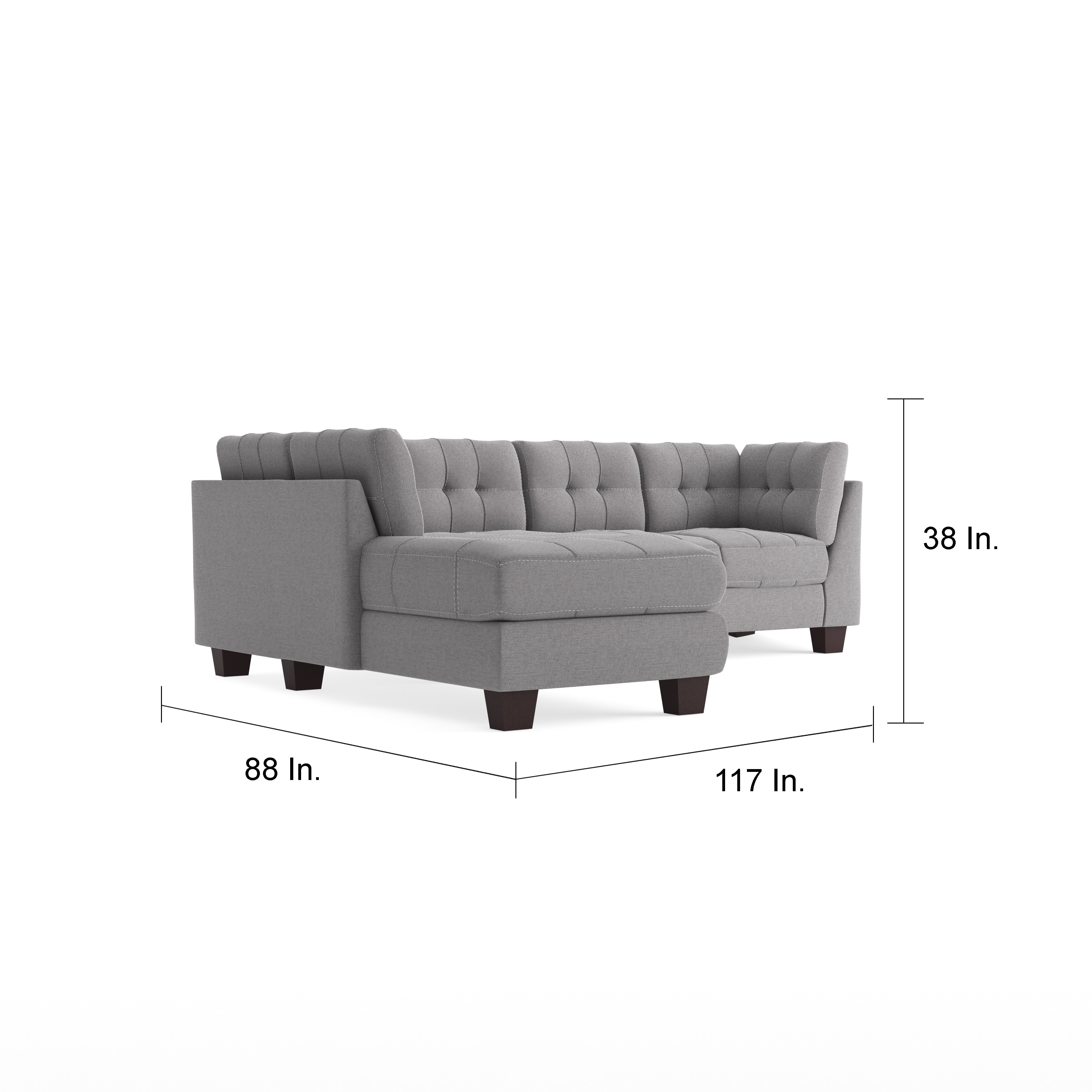 Clay Alder Home Wells Microfiber Sectional With Left Side Facing Chaise Free Shipping Today 20254944