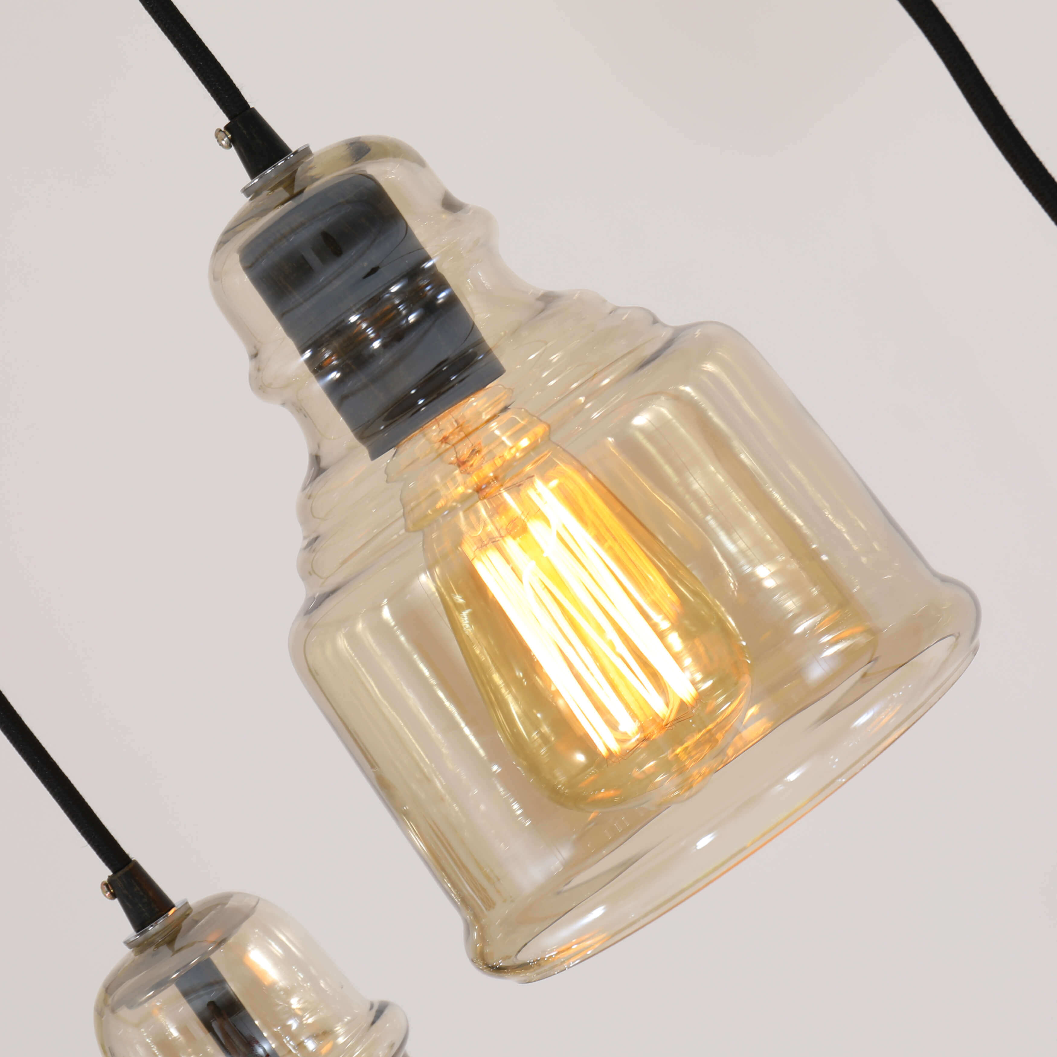 Clay Alder Home Wilson Antique Black Cognac Gl Cer 3 Light Pendant On Free Shipping Today 20255097